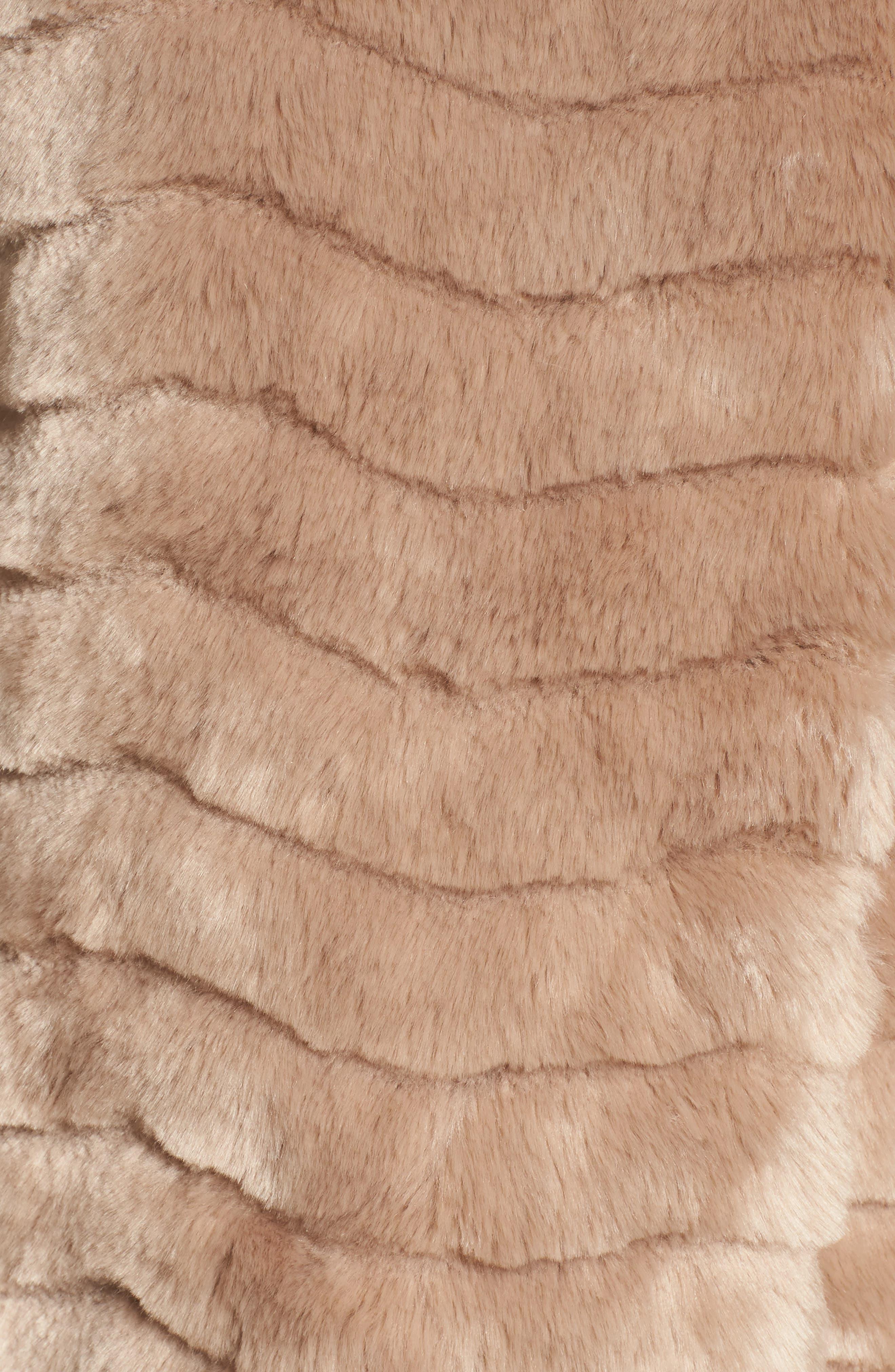 McCoy Faux Fur Coat,                             Alternate thumbnail 5, color,                             Camel