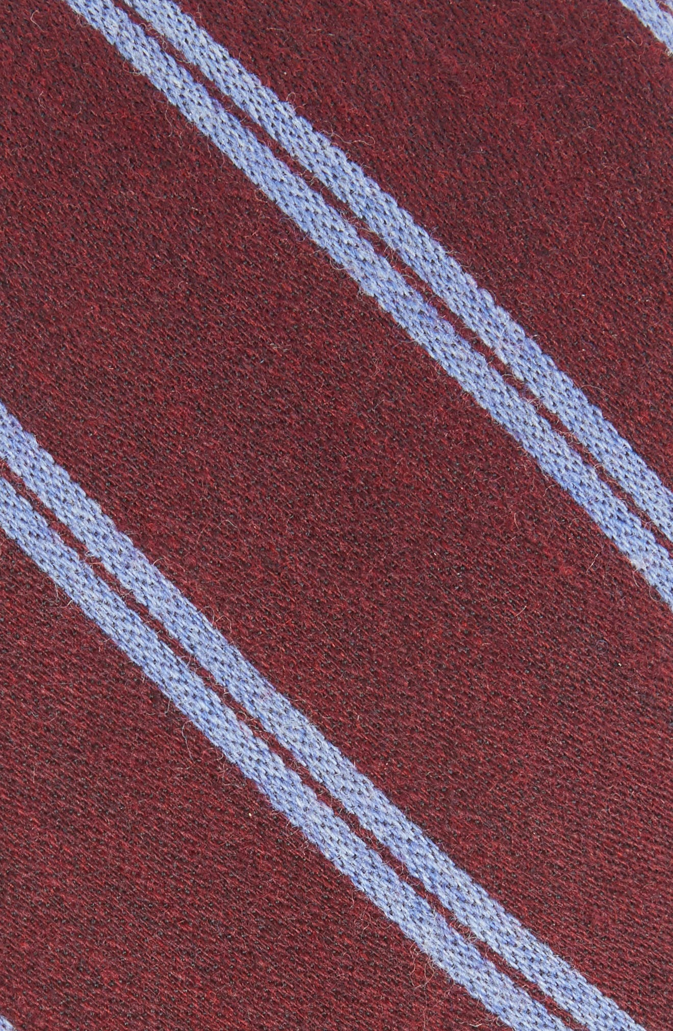 Deo Stripe Wool Tie,                             Alternate thumbnail 2, color,                             Red