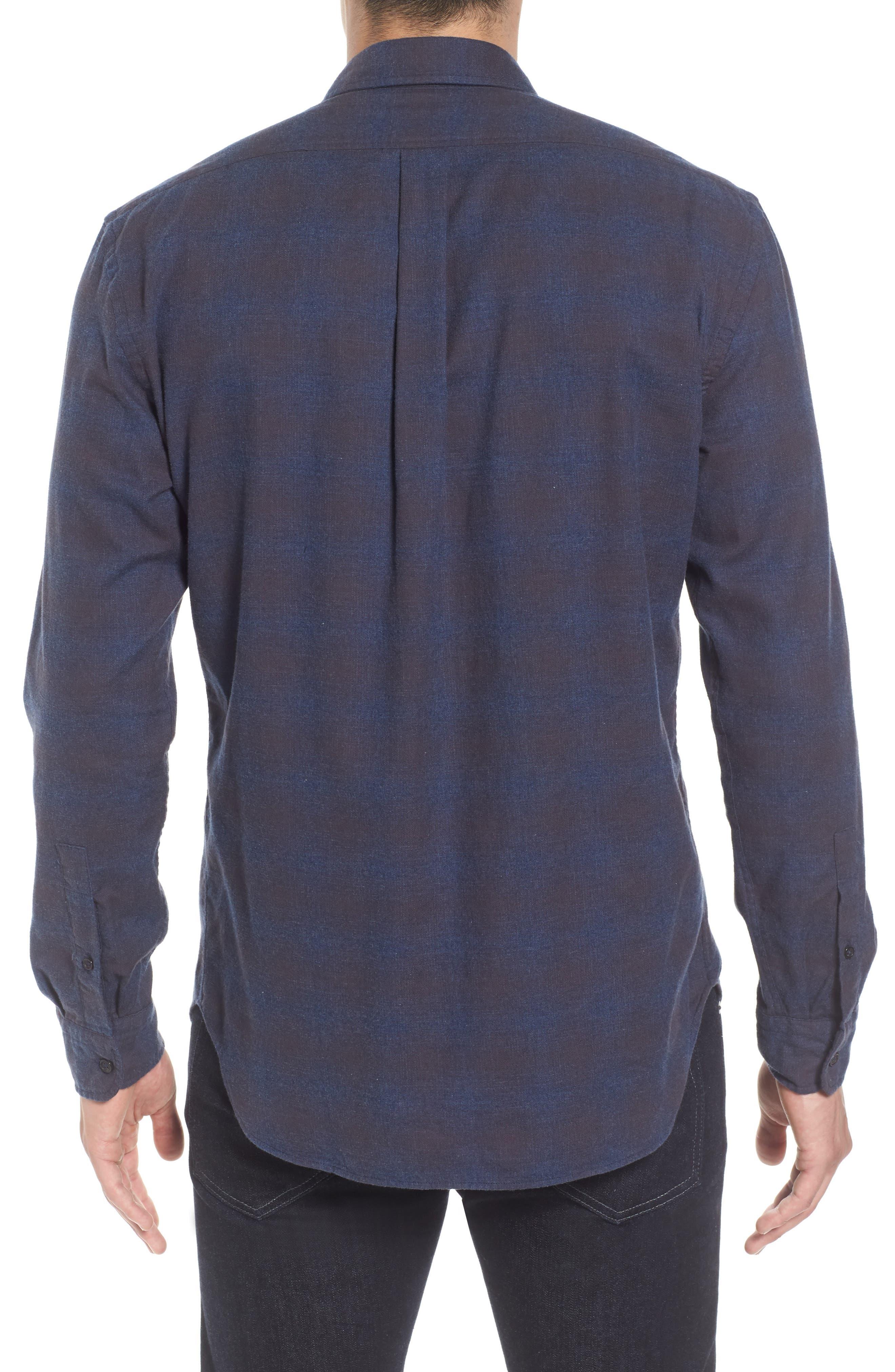 Graham Standard Fit Check Sport Shirt,                             Alternate thumbnail 2, color,                             Navy