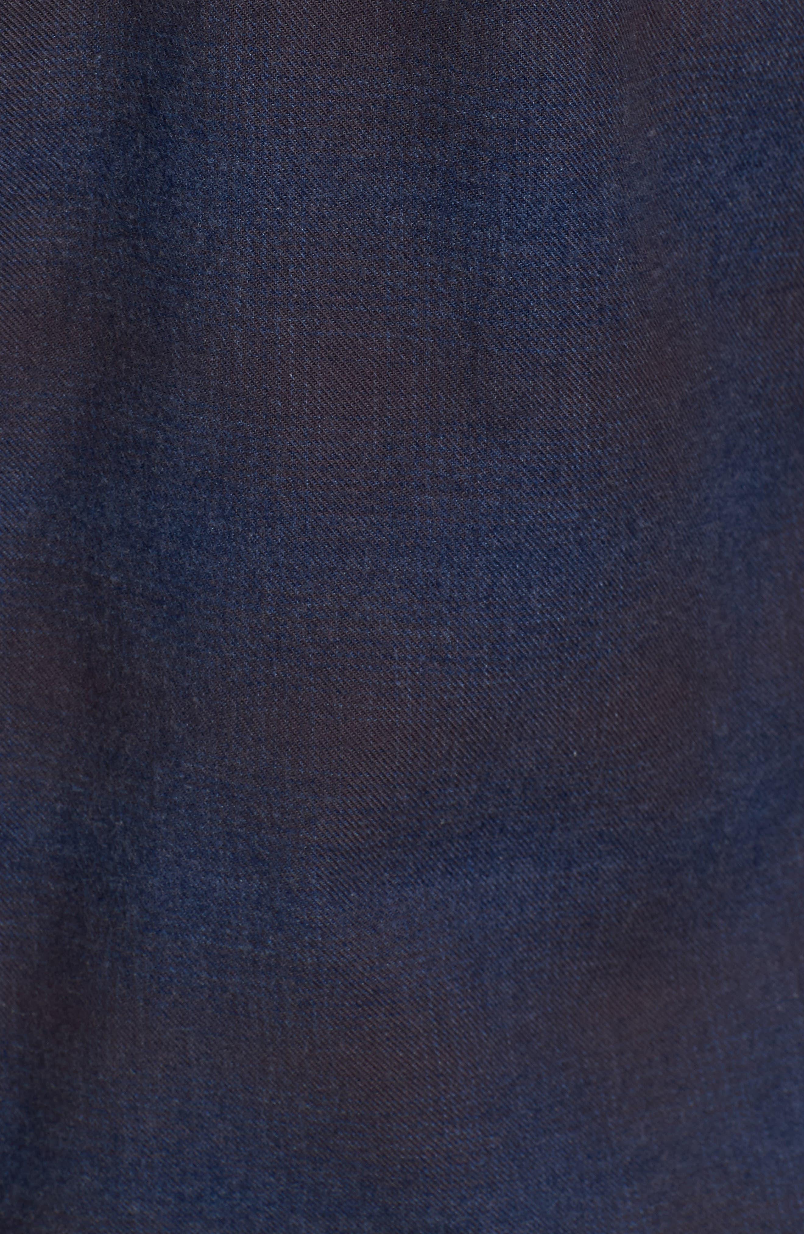 Graham Standard Fit Check Sport Shirt,                             Alternate thumbnail 5, color,                             Navy