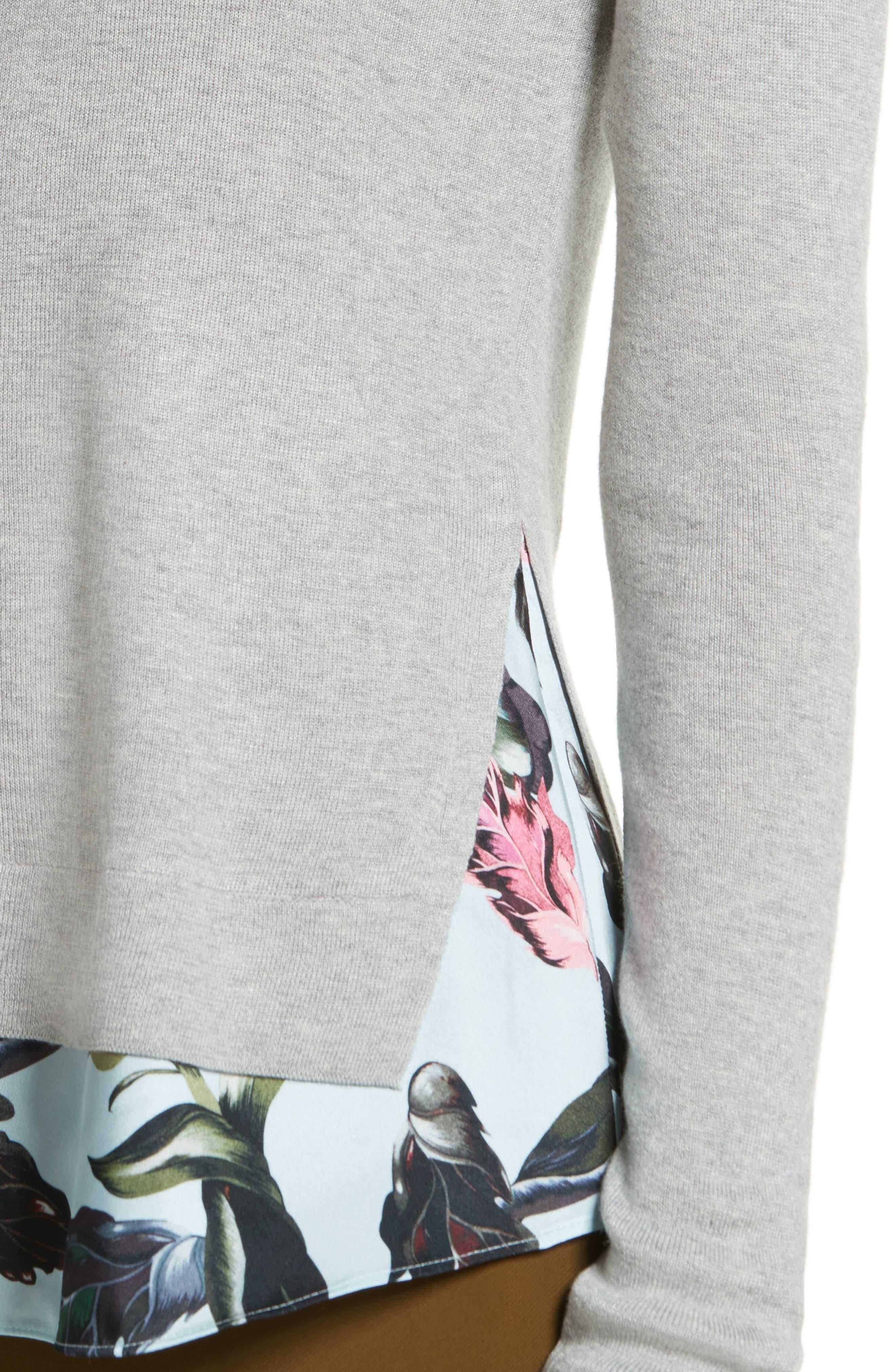 Karley Minerals Mockable Sweater,                             Alternate thumbnail 4, color,                             Light Grey