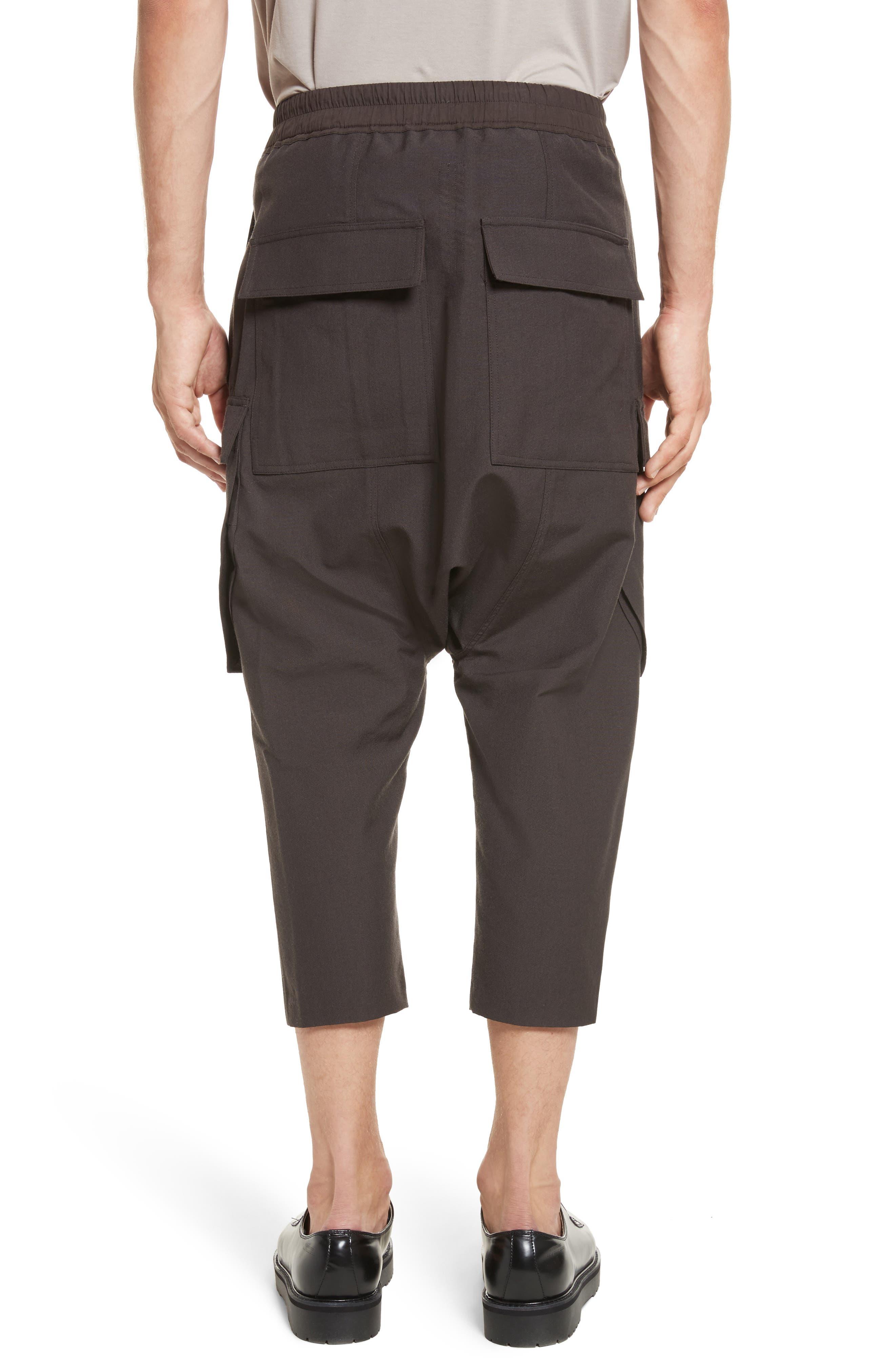 Cropped Drawstring Cargo Pants,                             Alternate thumbnail 2, color,                             Brown