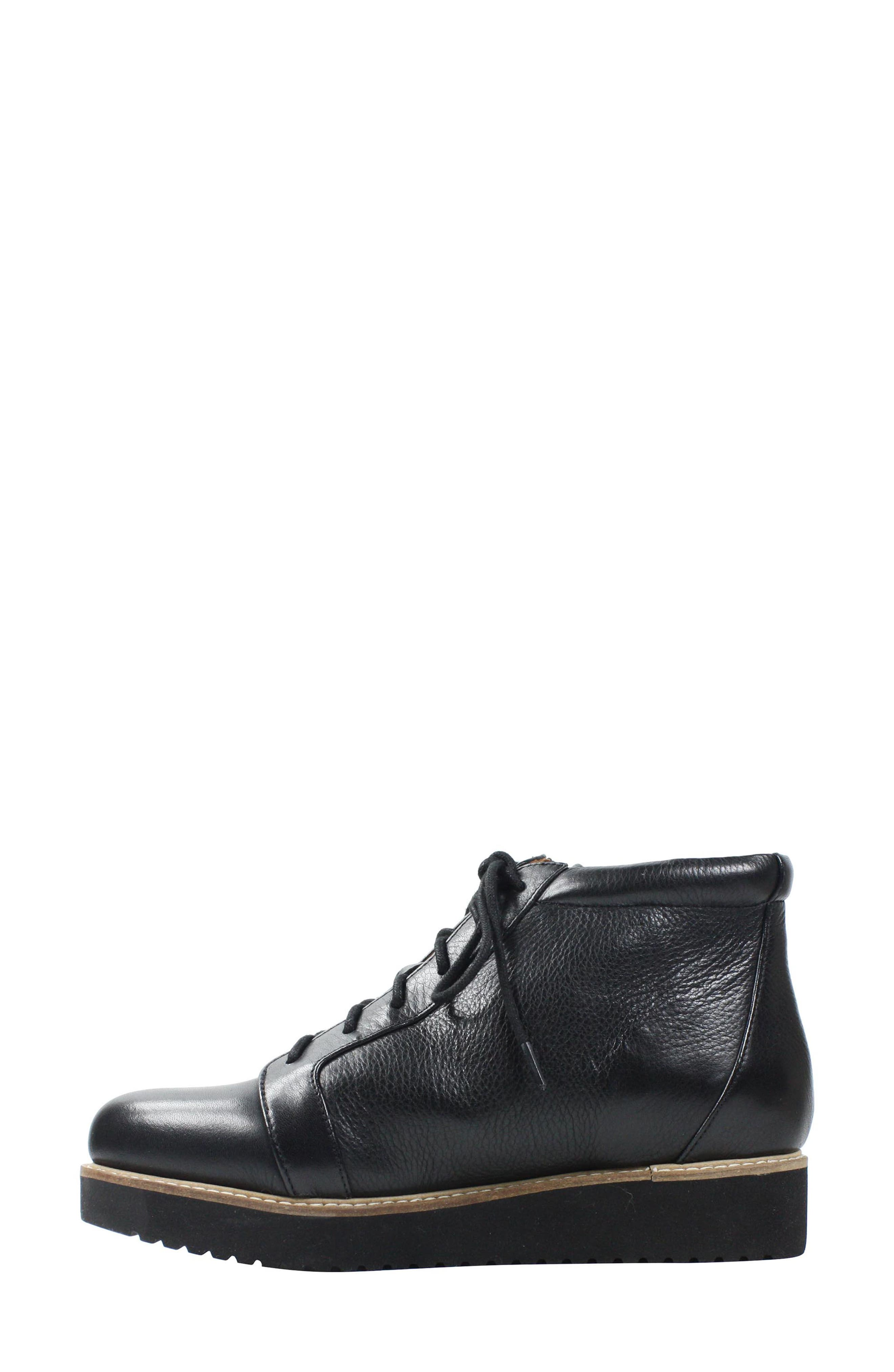 Xandrie Bootie,                             Alternate thumbnail 2, color,                             Black Leather