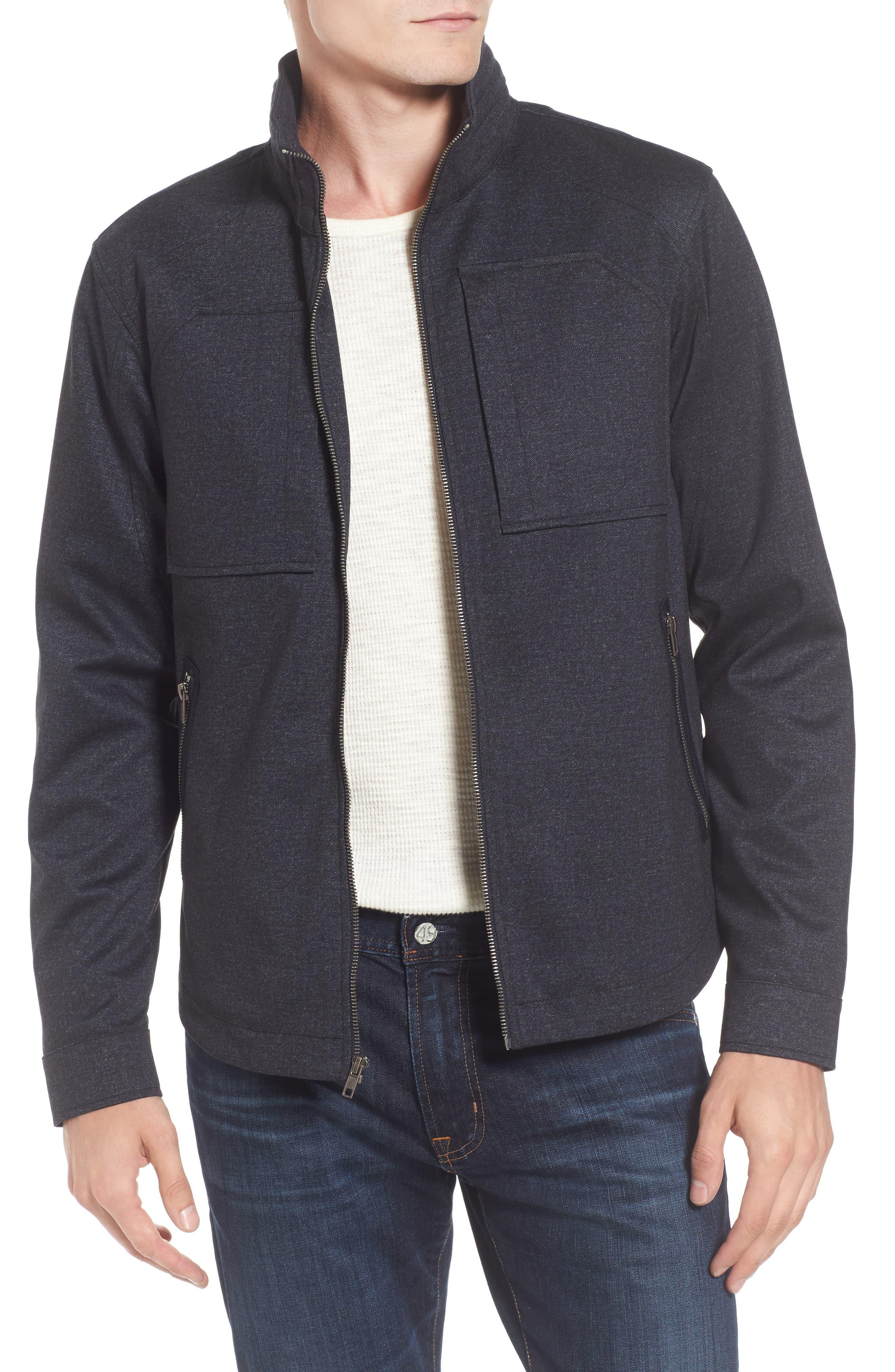 Zip Jacket,                         Main,                         color, Navy