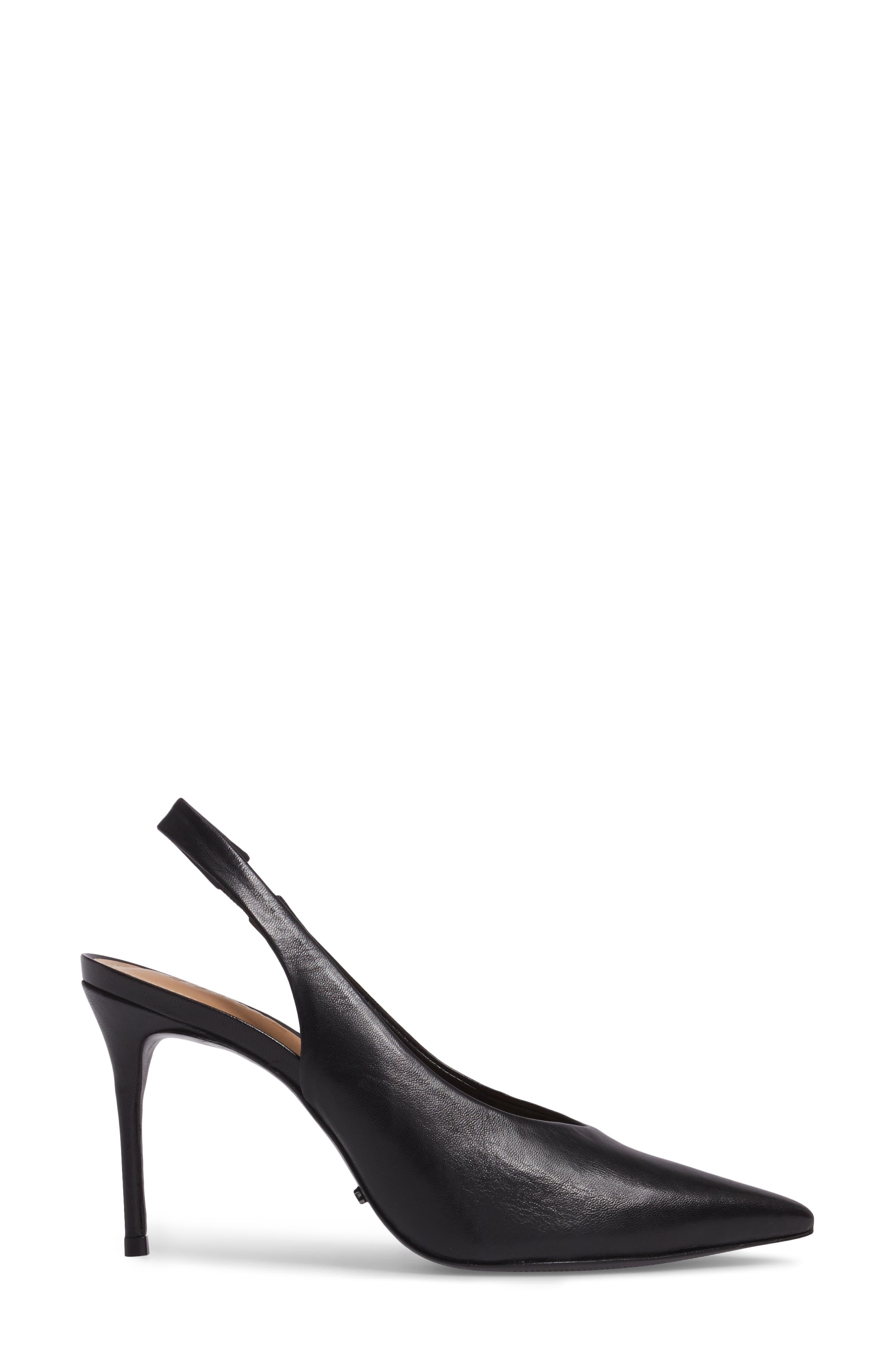 Phisalis Slingback Pump,                             Alternate thumbnail 3, color,                             Black Mestico Leather