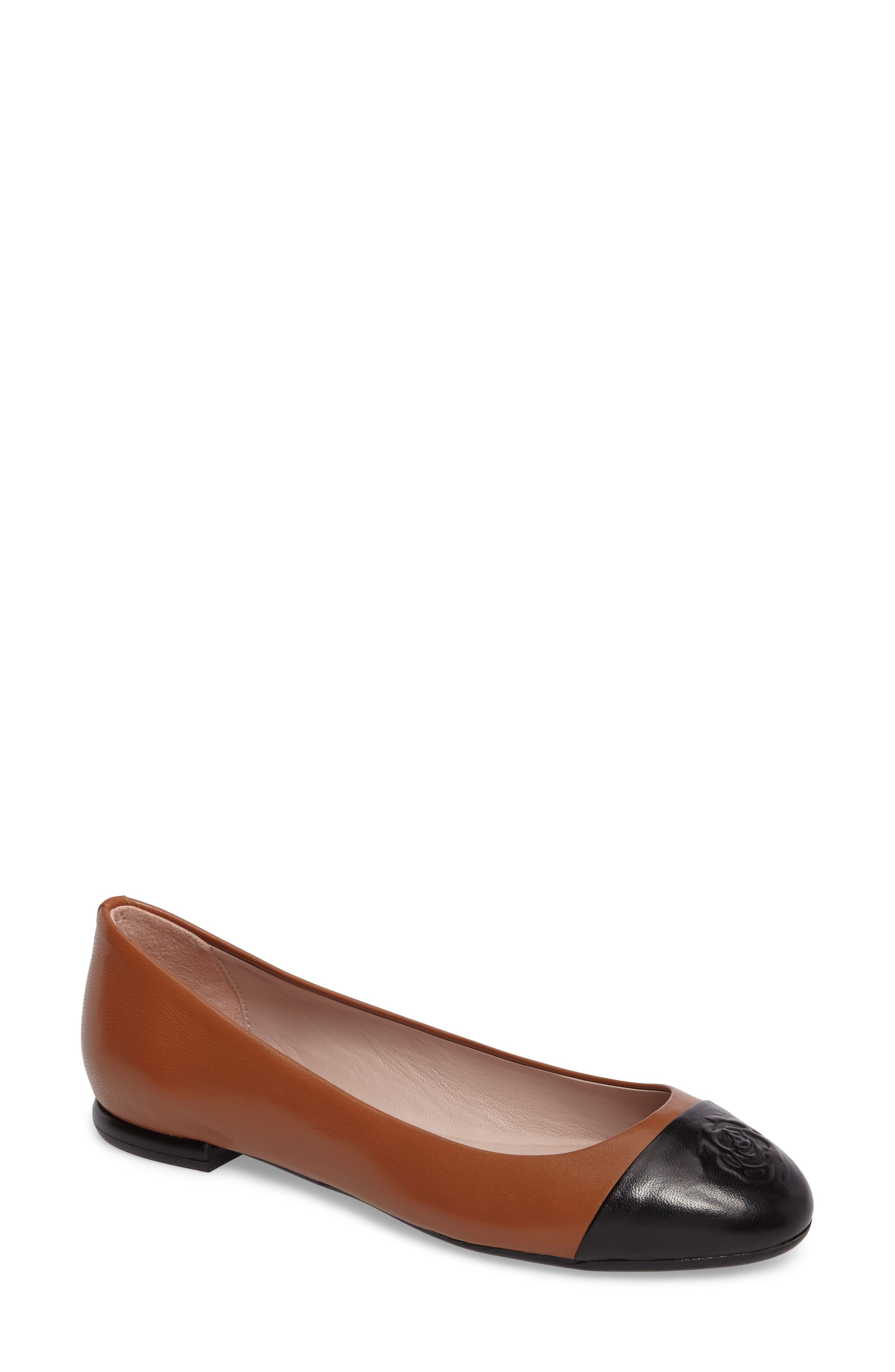 Rosa Ballet Flat,                             Main thumbnail 1, color,                             Tan Leather