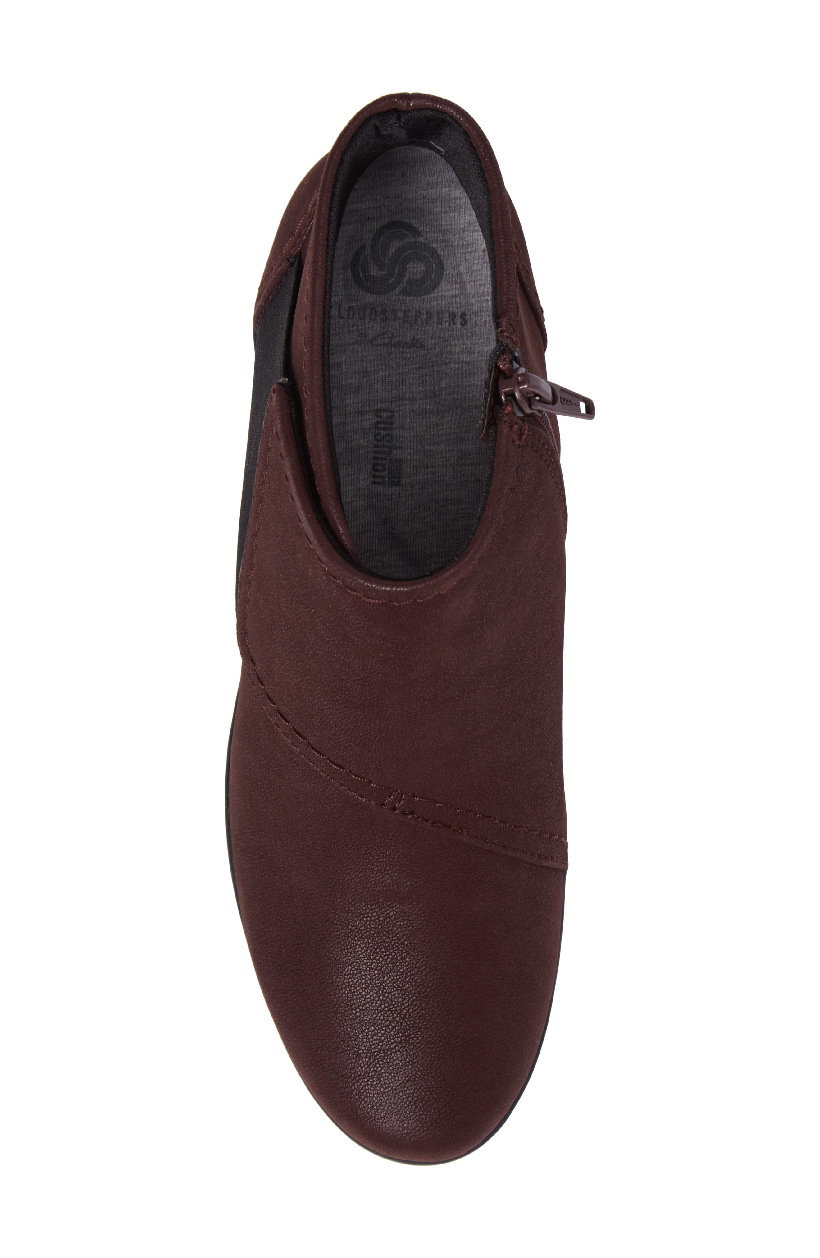 Caddell Rush Bootie,                             Alternate thumbnail 5, color,                             Burgundy Leather