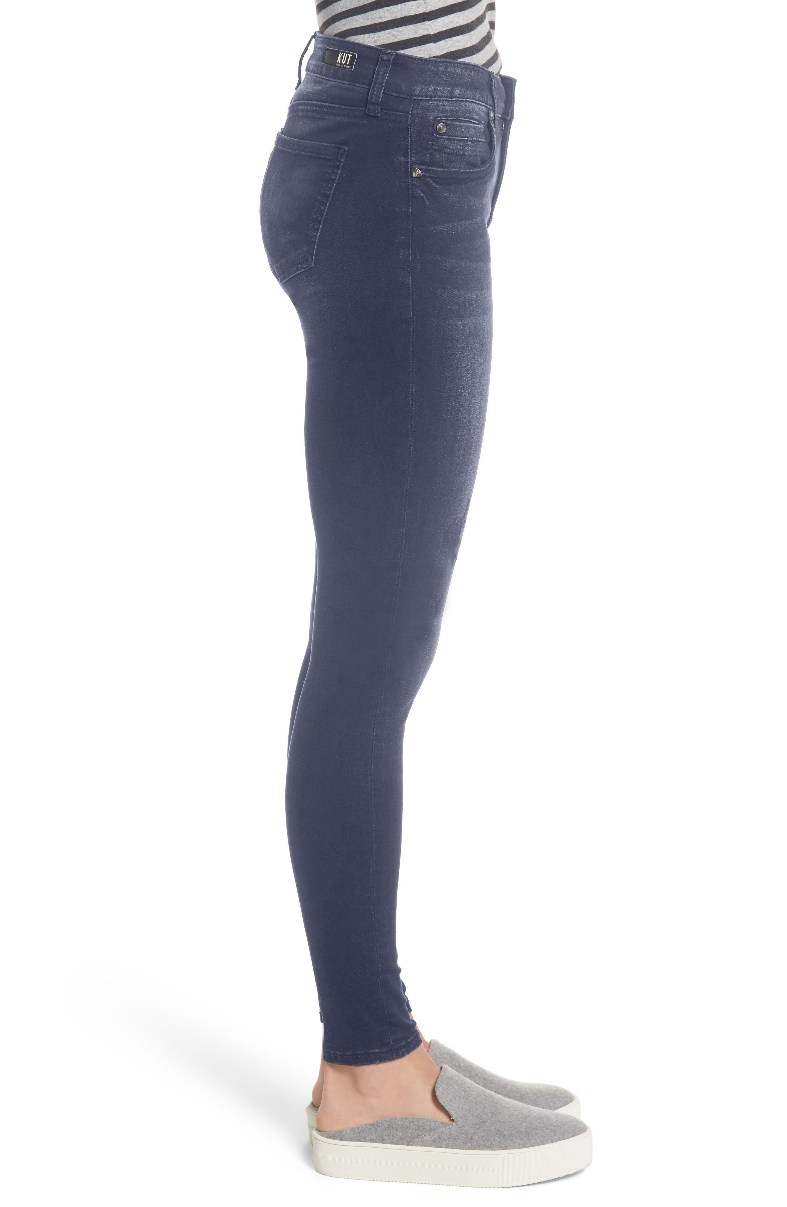 Mia Embroidered Skinny Jeans,                             Alternate thumbnail 3, color,                             Quintessential