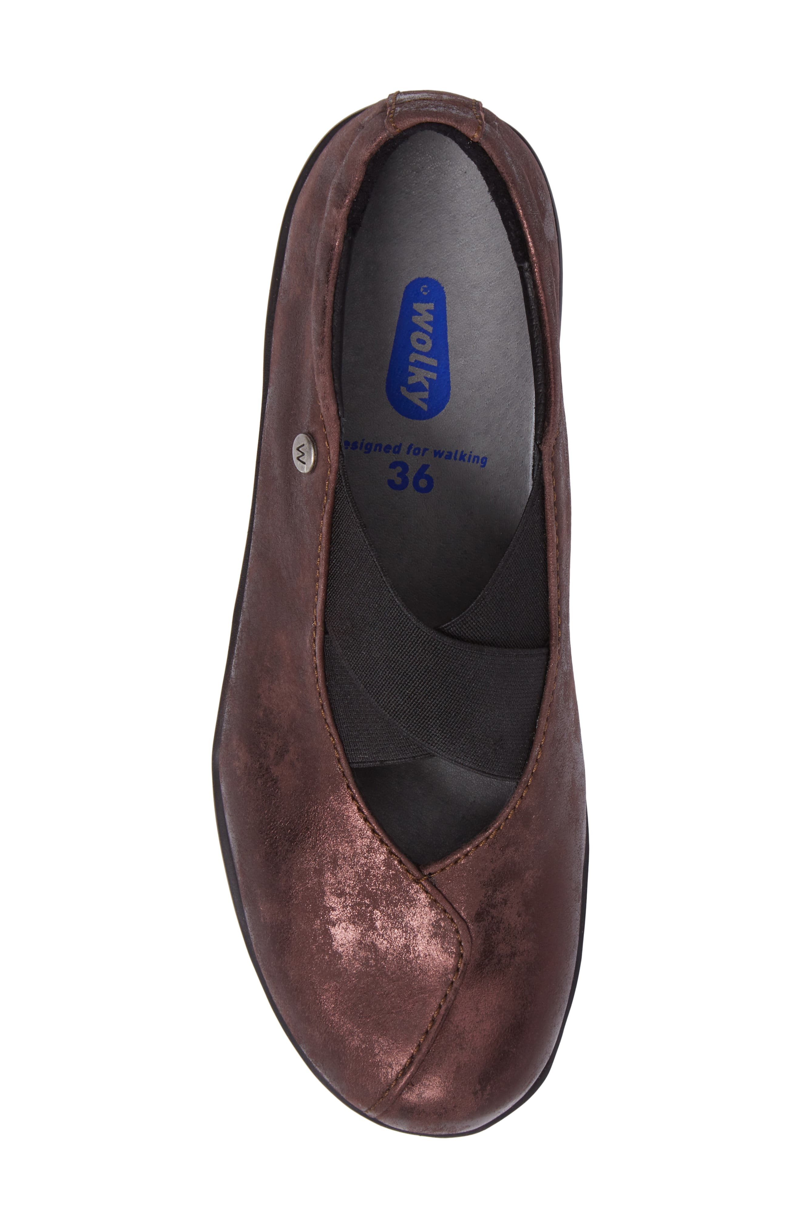 Cursa Slip-On Sneaker,                             Alternate thumbnail 5, color,                             Mocha Leather