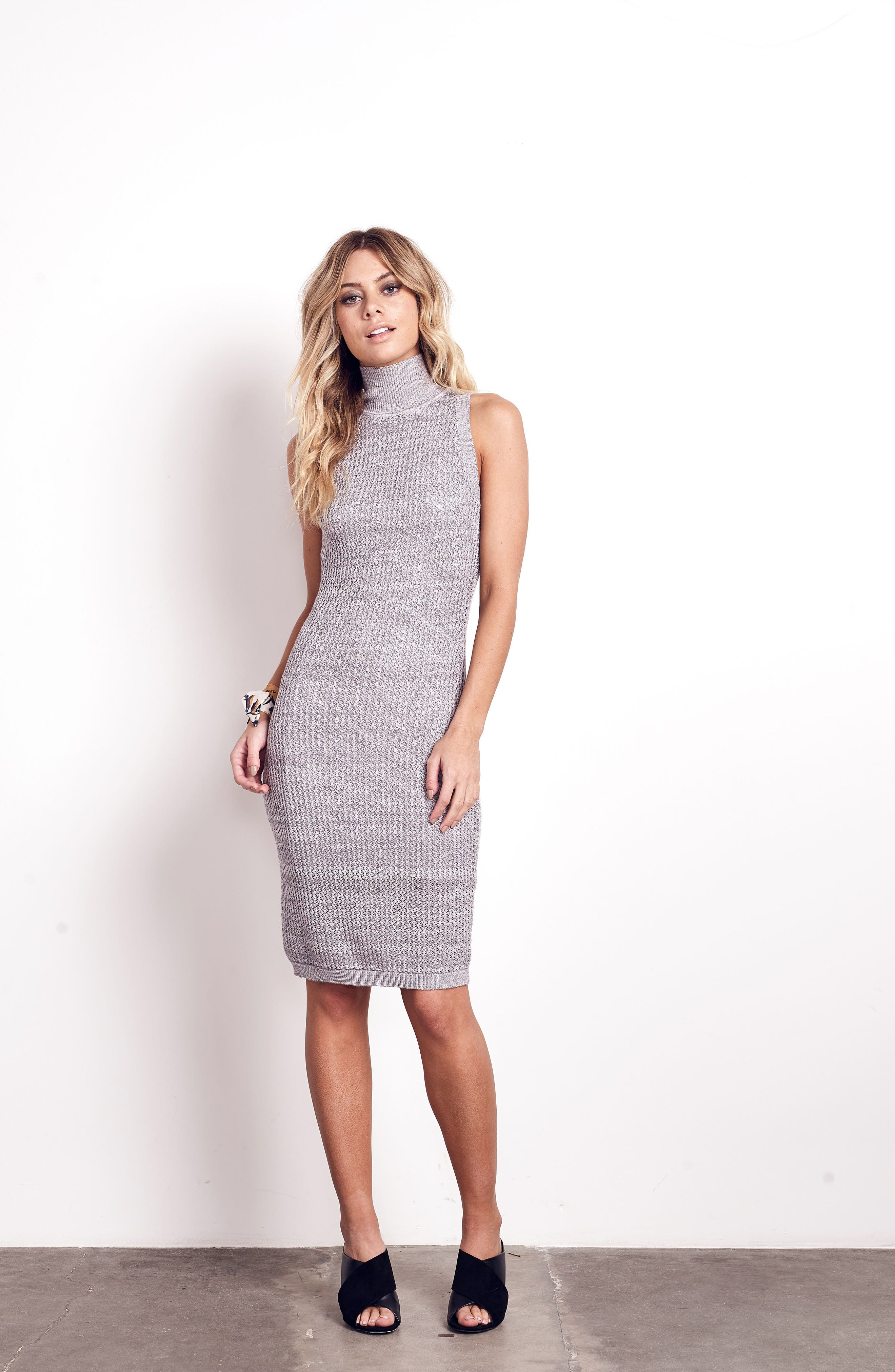We Shall Overcome Body-Con Dress,                             Alternate thumbnail 2, color,                             Grey