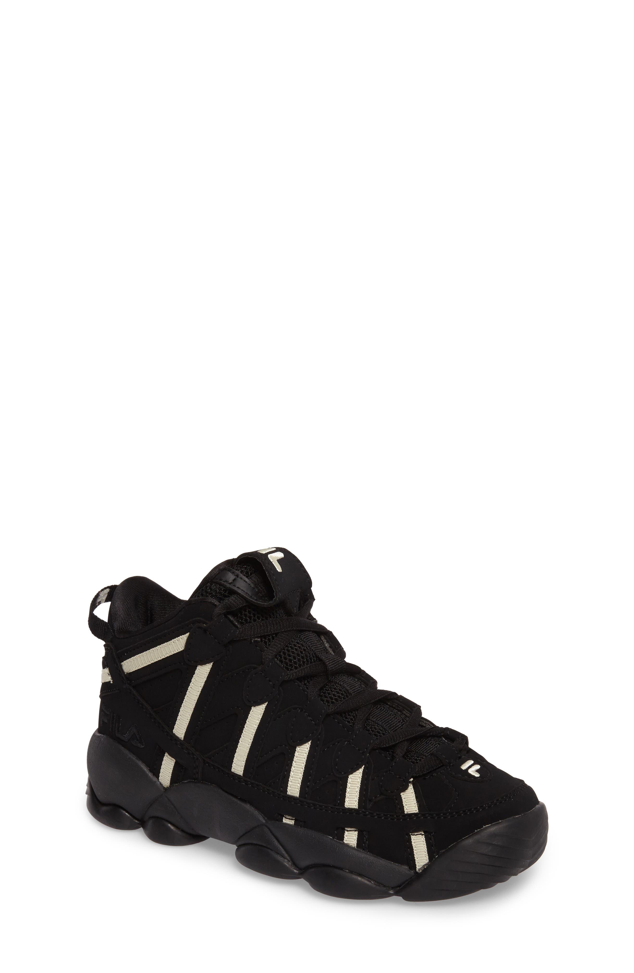 Spaghetti Deluxe Mid Top Sneaker,                             Main thumbnail 1, color,                             Black/ Cream