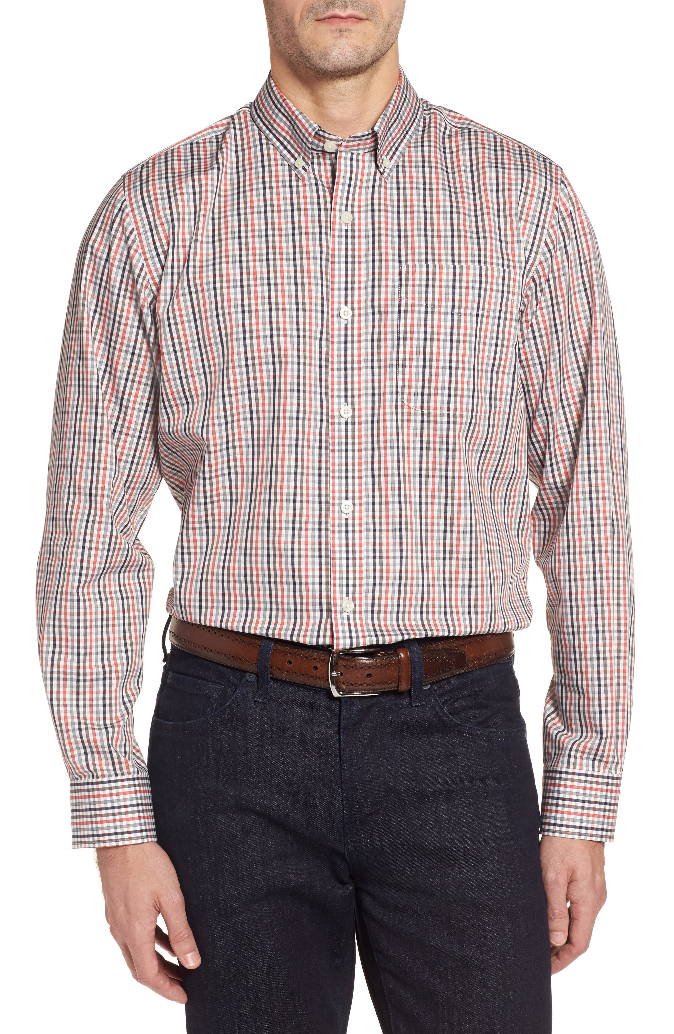 Cutter & Buck Baxter Epic Easy Care Classic Fit Plaid Sport Shirt