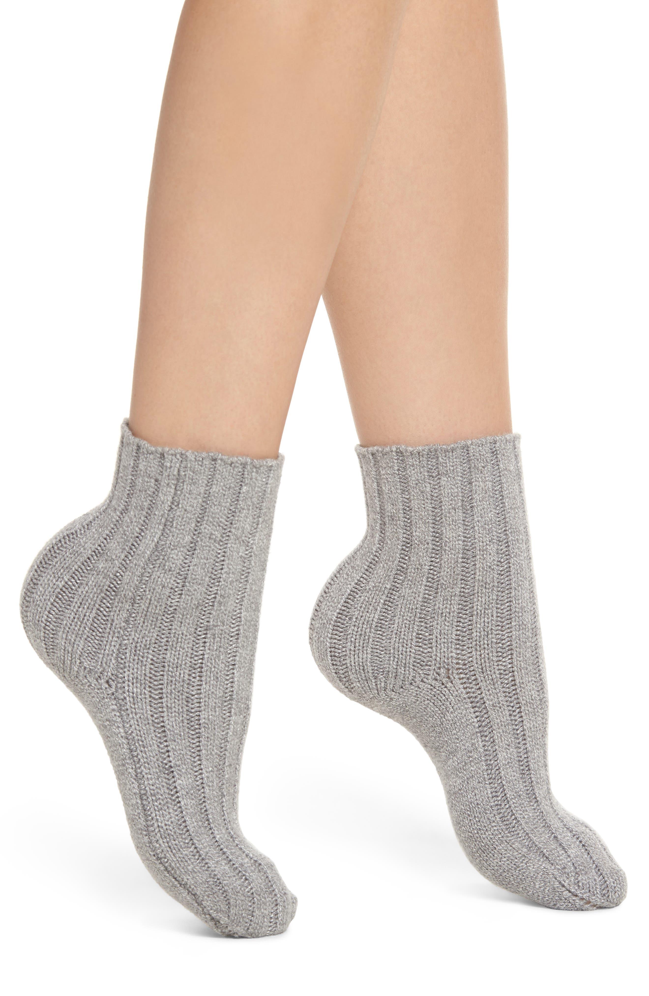 Lemon Shootie Wide Rib Ankle Socks