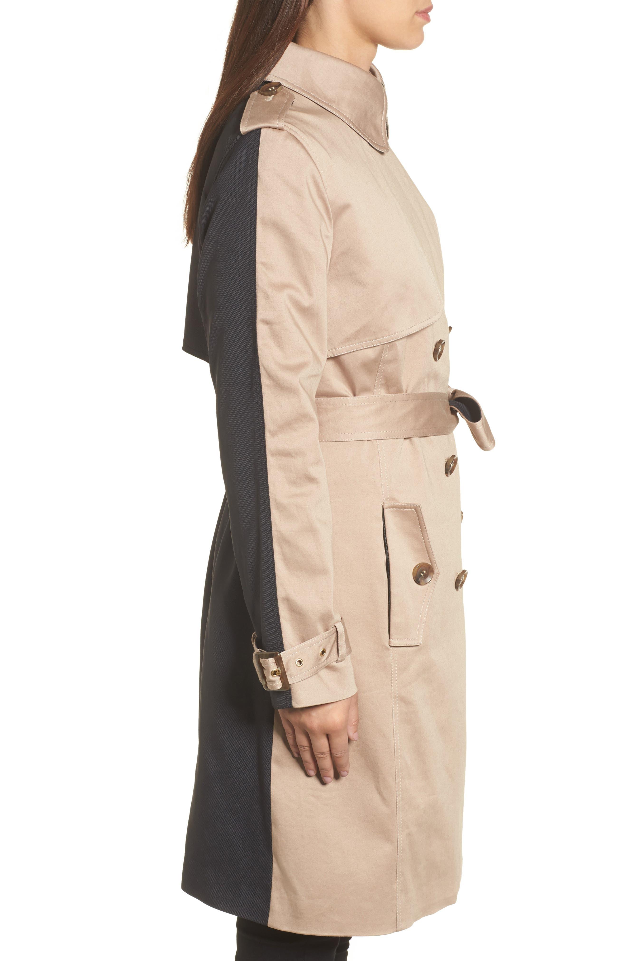 Alternate Image 3  - Trina Turk Allison Two-Tone Trench Coat