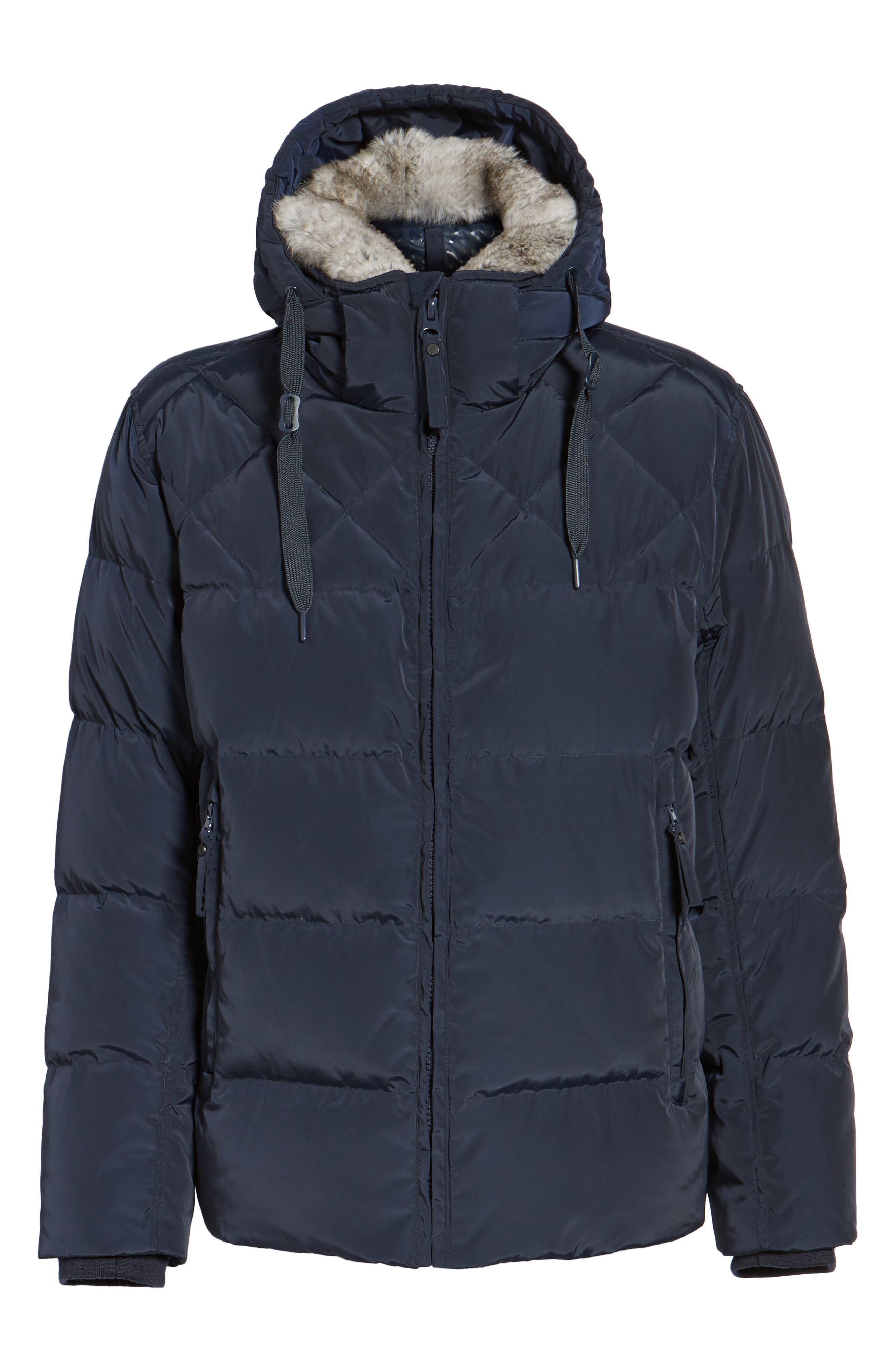 Alternate Image 5  - Marc New York Navan Quilted Down Jacket with Genuine Rabbit Fur Trim