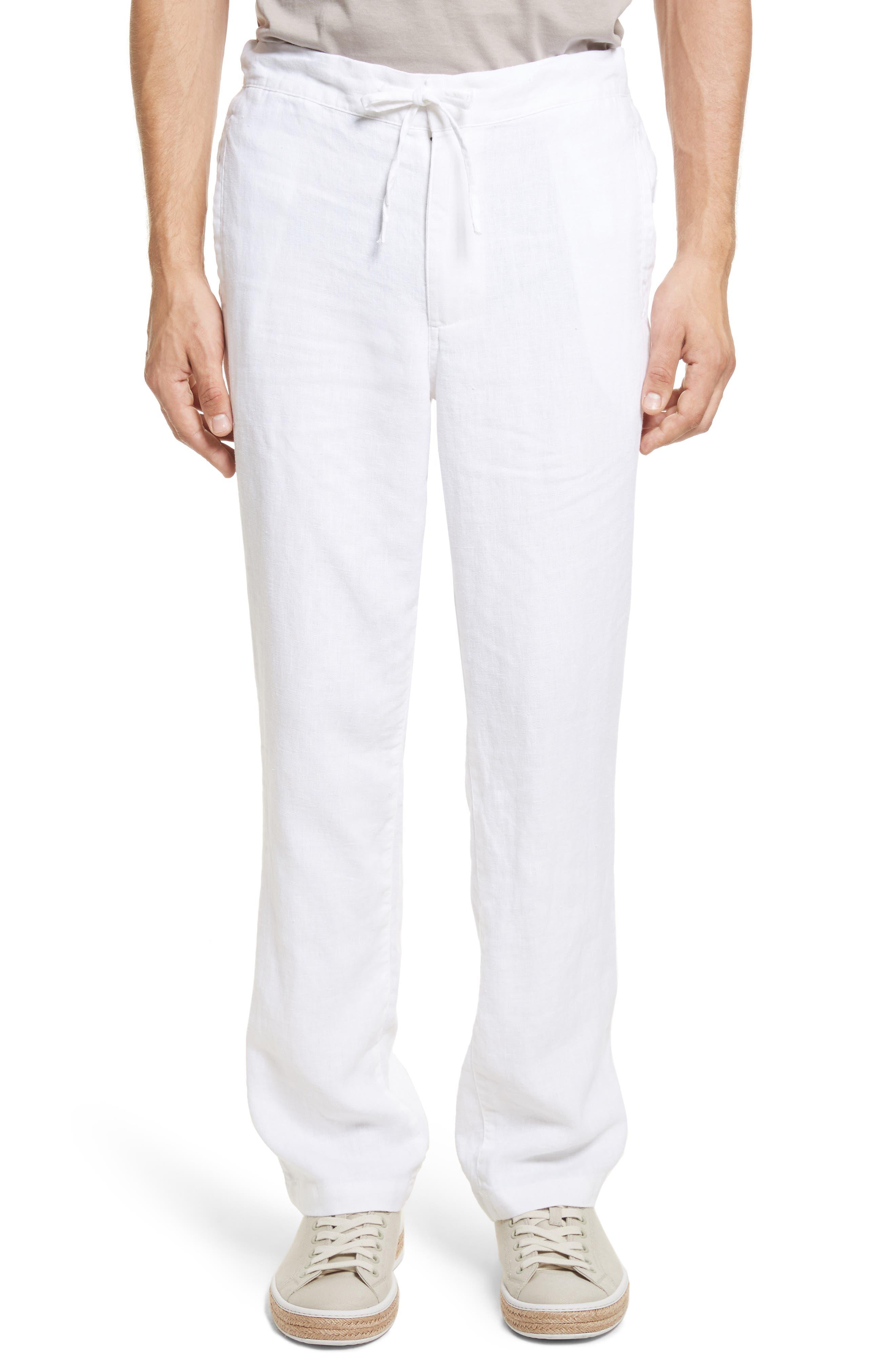 Collin Linen Pants,                         Main,                         color, White