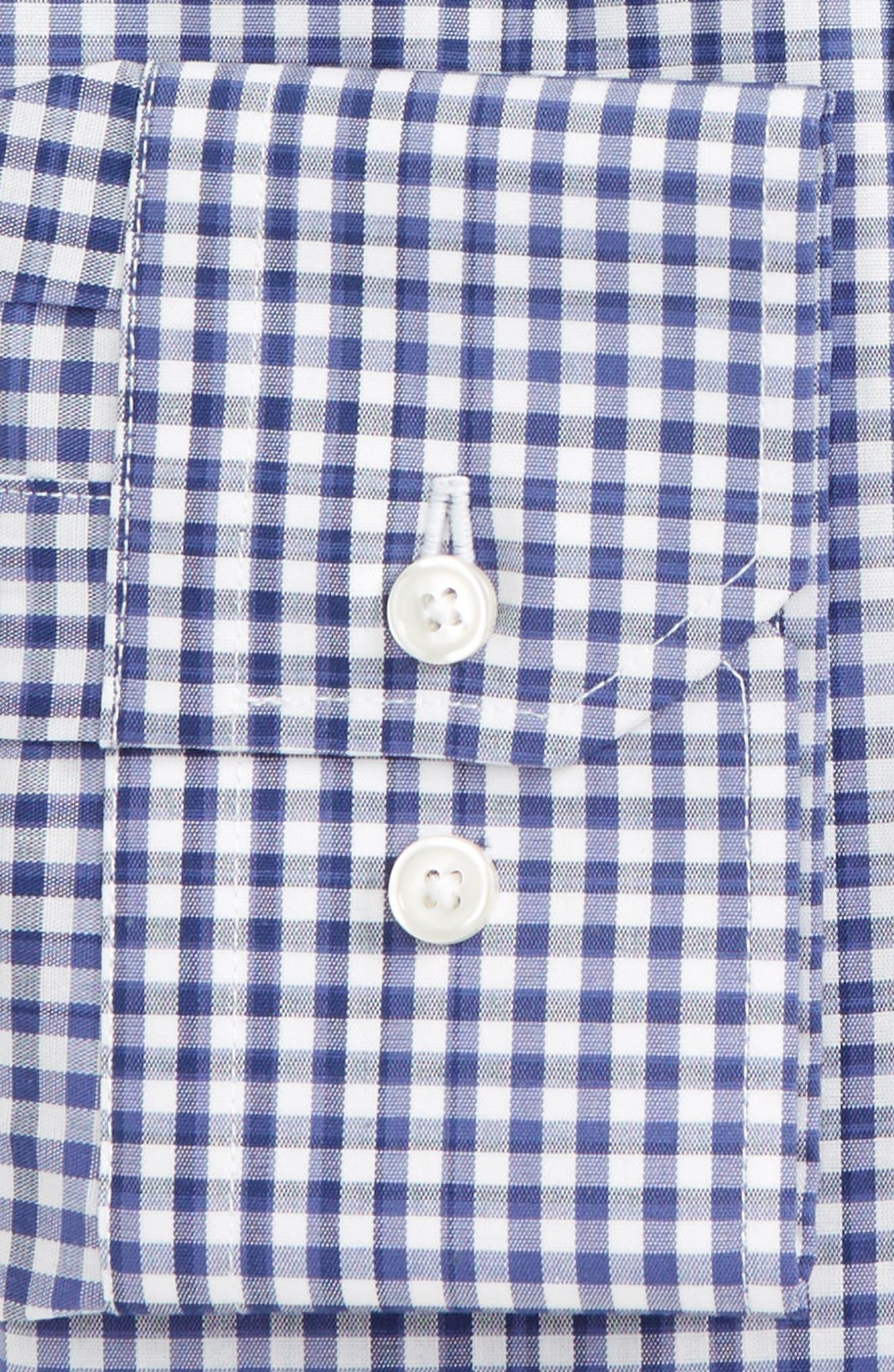 Trim Fit Stretch Non-Iron Check Dress Shirt,                             Alternate thumbnail 2, color,                             Blue Twilight