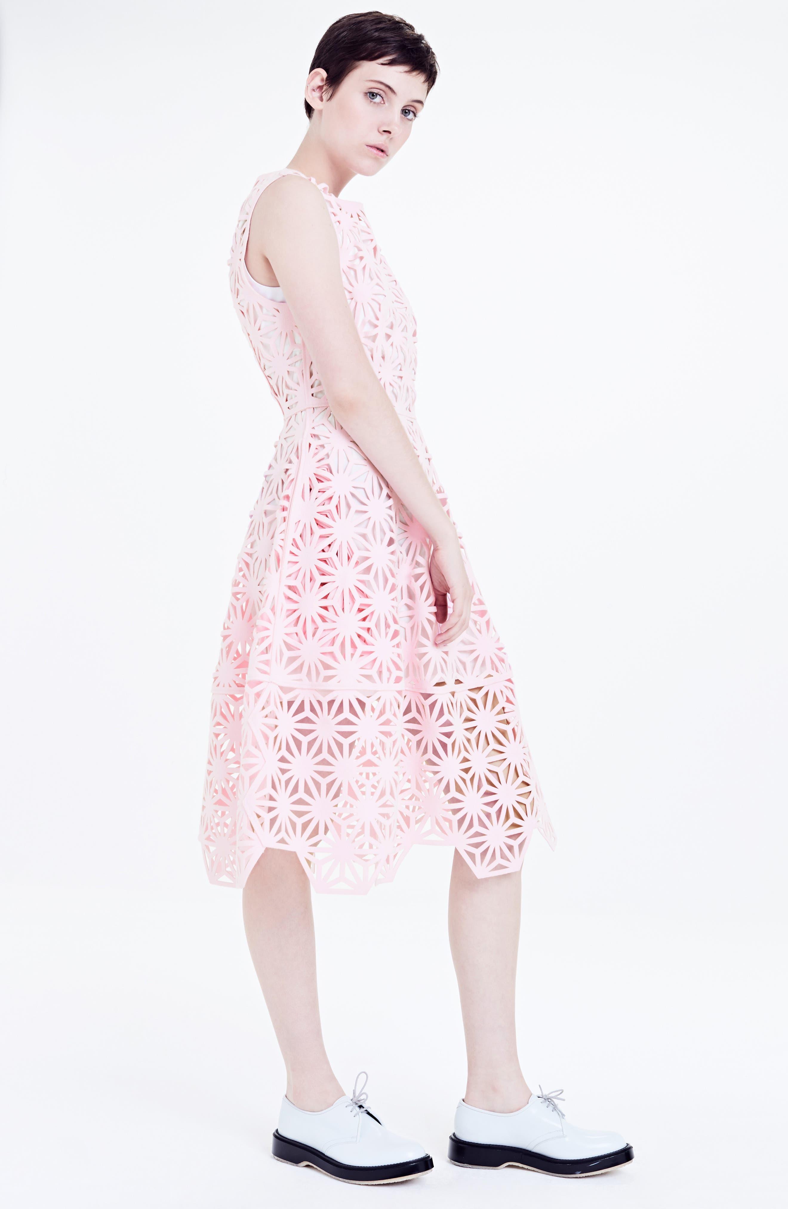 Alternate Image 7  - PASKAL Geo Laser Cut Fit & Flare Dress