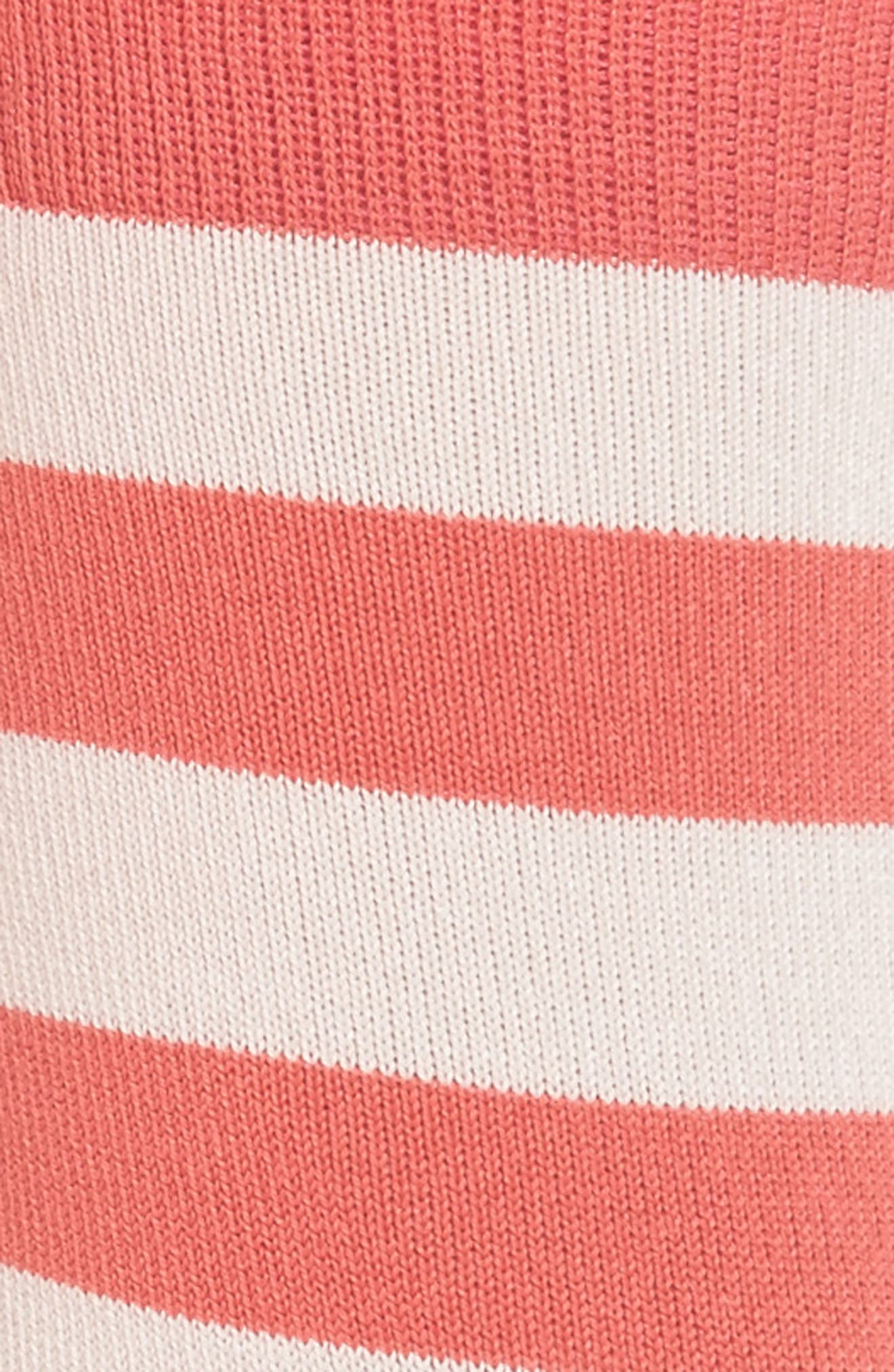 Fearne Stripe Crew Socks,                             Alternate thumbnail 2, color,                             Coral