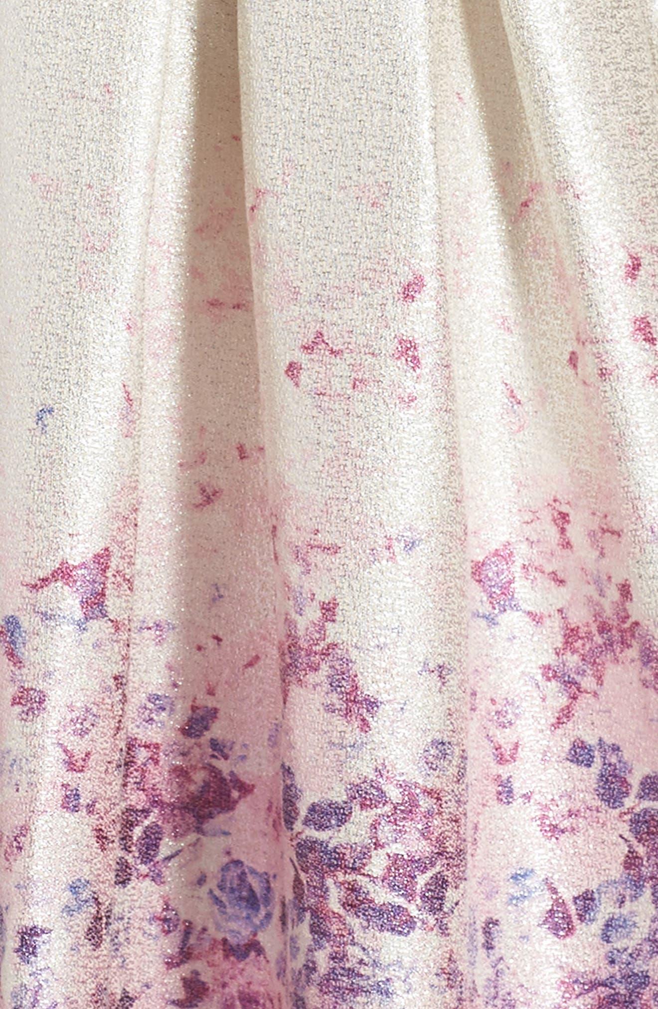 Liza Dress,                             Alternate thumbnail 3, color,                             Silver/ Multi