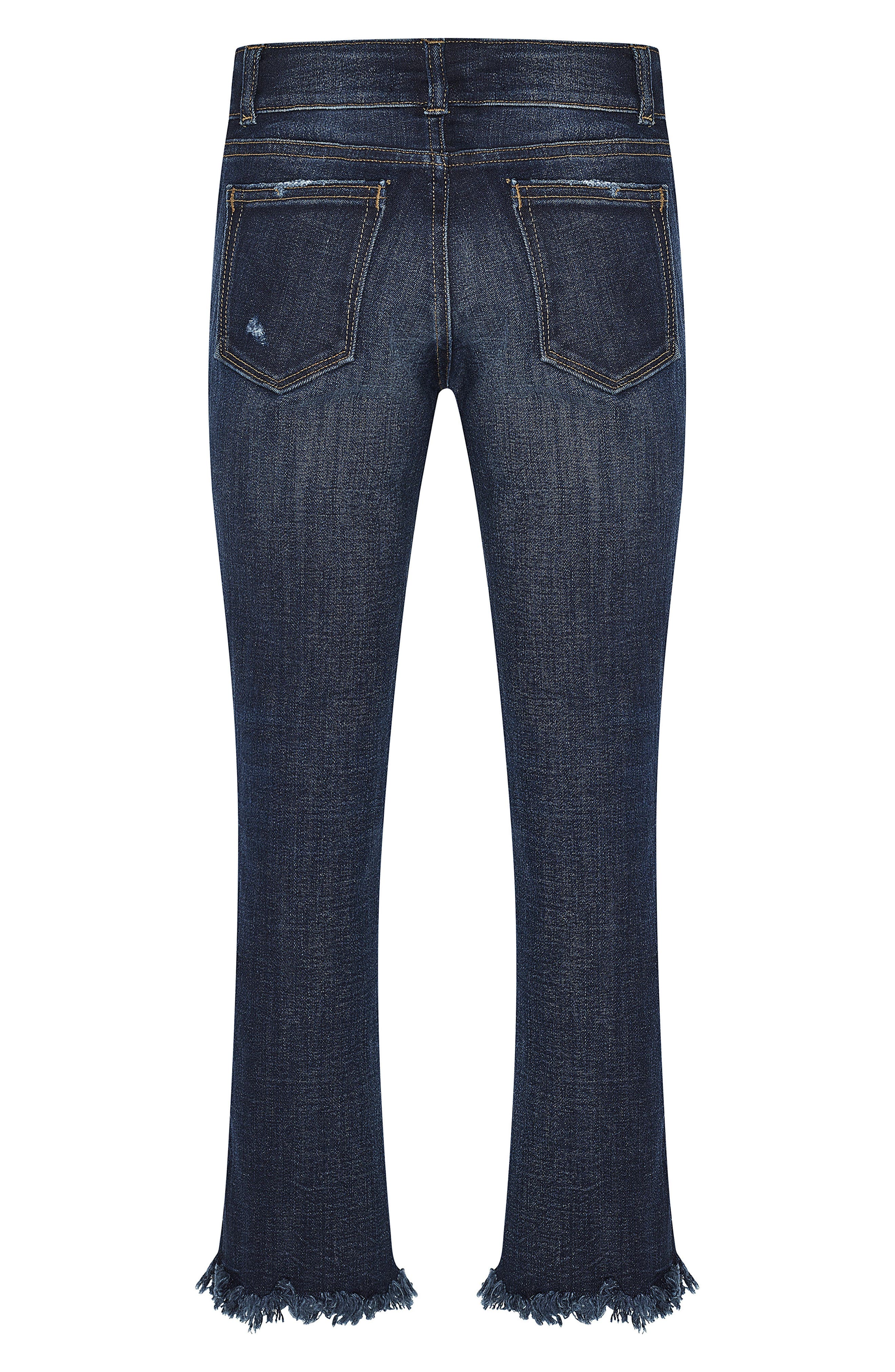 Alternate Image 2  - DL1916 Chloe Distressed Skinny Jeans (Big Girls)