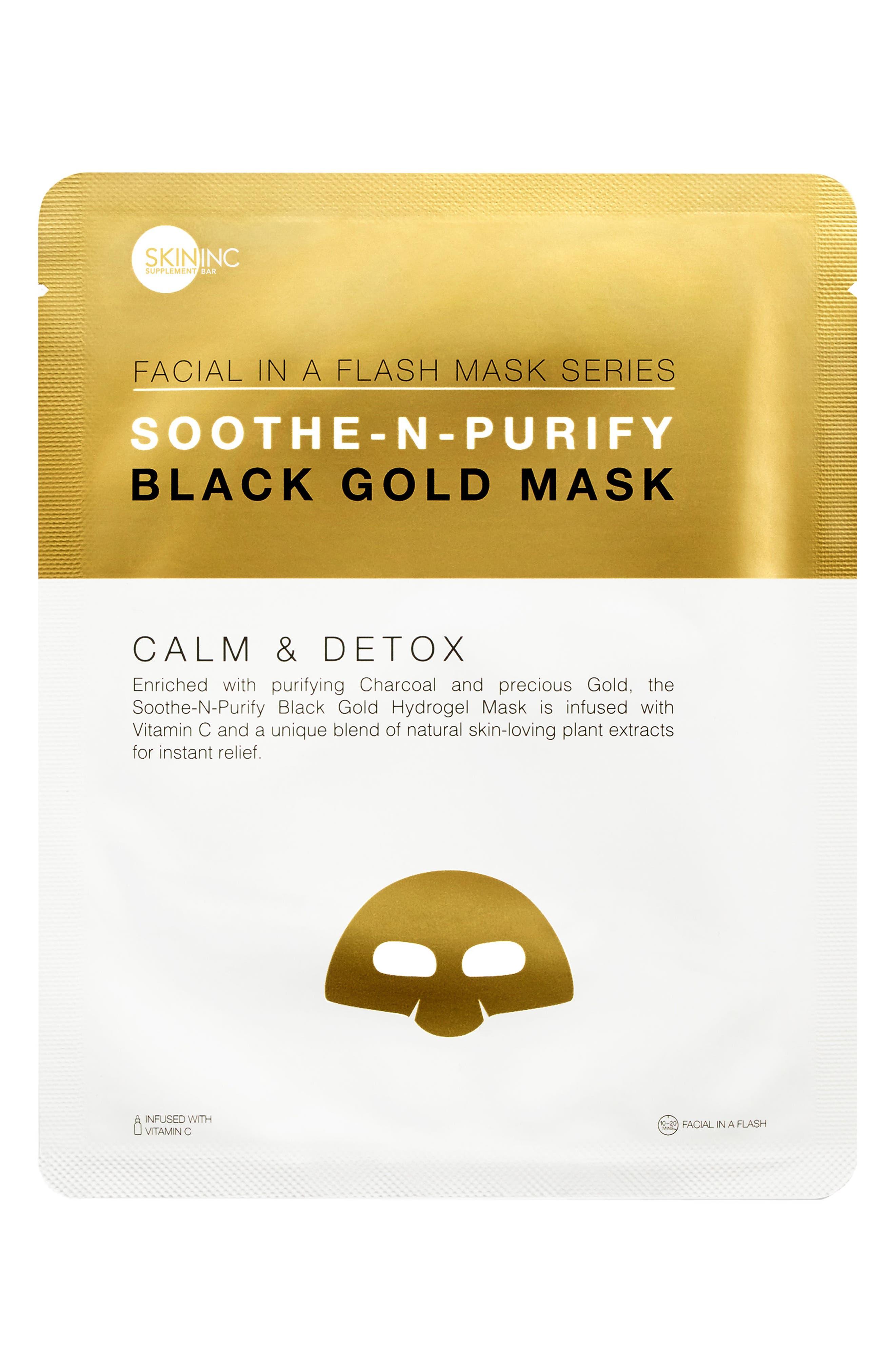 Alternate Image 1 Selected - Skin Inc. Soothe-n-Purify Black Gold Mask
