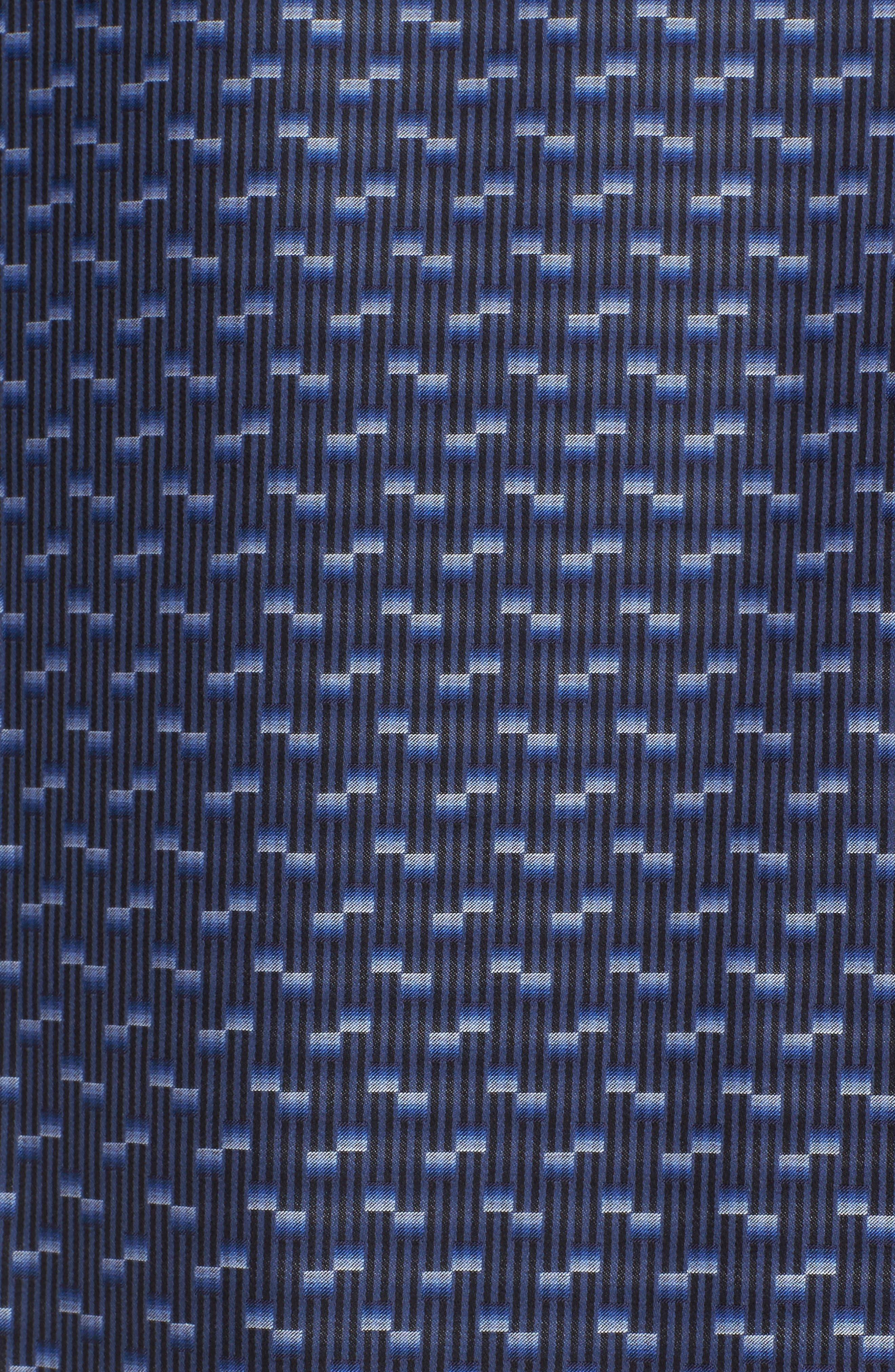 Alternate Image 5  - Bugatchi Classic Fit Geo Jacquard Sport Shirt