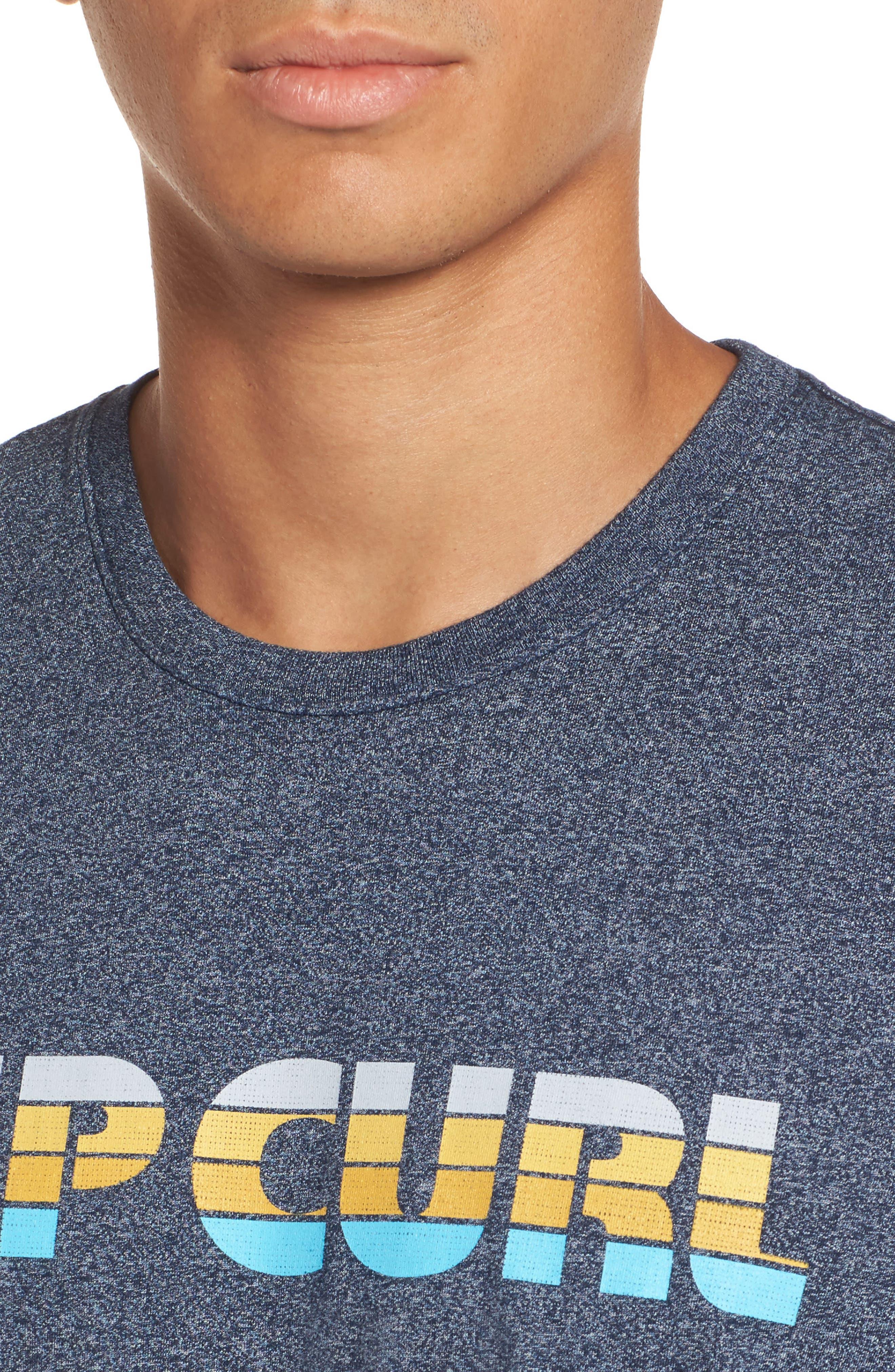 Pumped Mock Twist Graphic T-Shirt,                             Alternate thumbnail 4, color,                             Navy