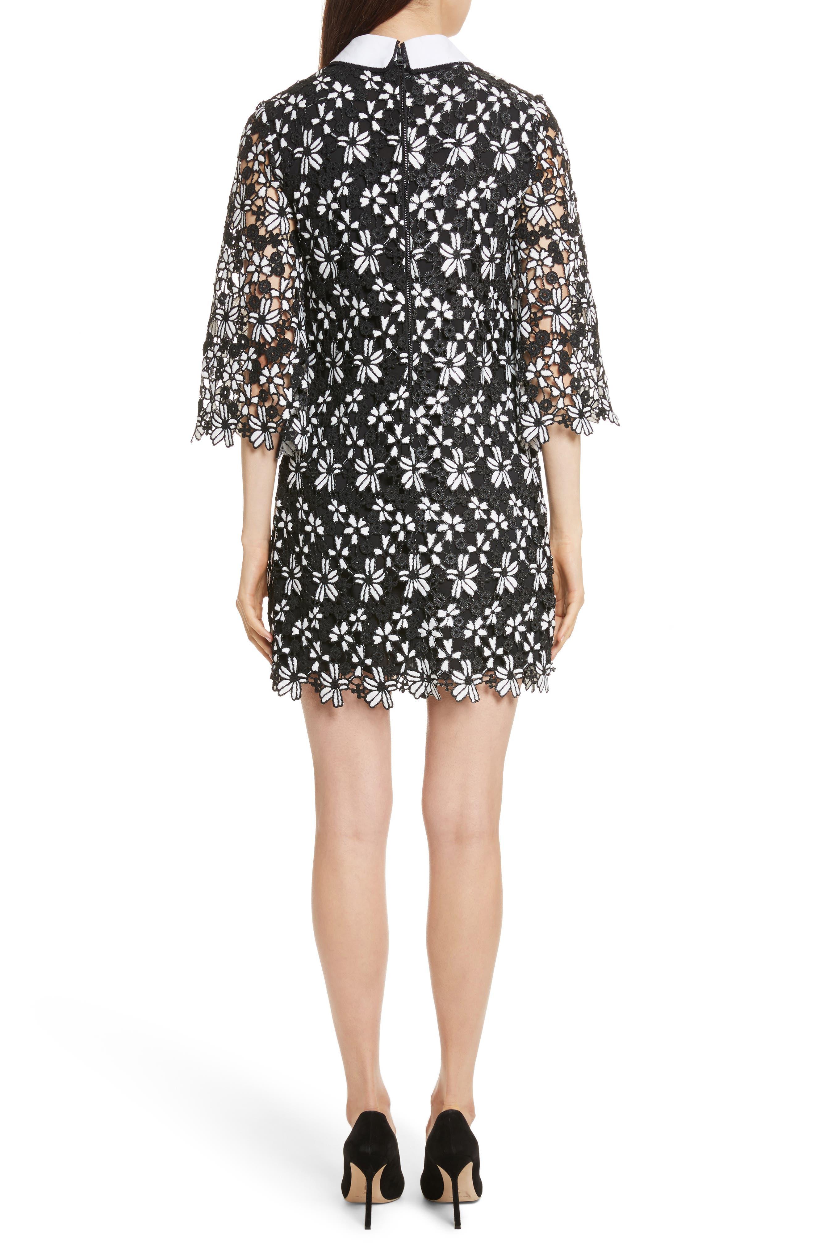 Alternate Image 2  - Alice + Olivia Debra Collared Lace Tunic Dress