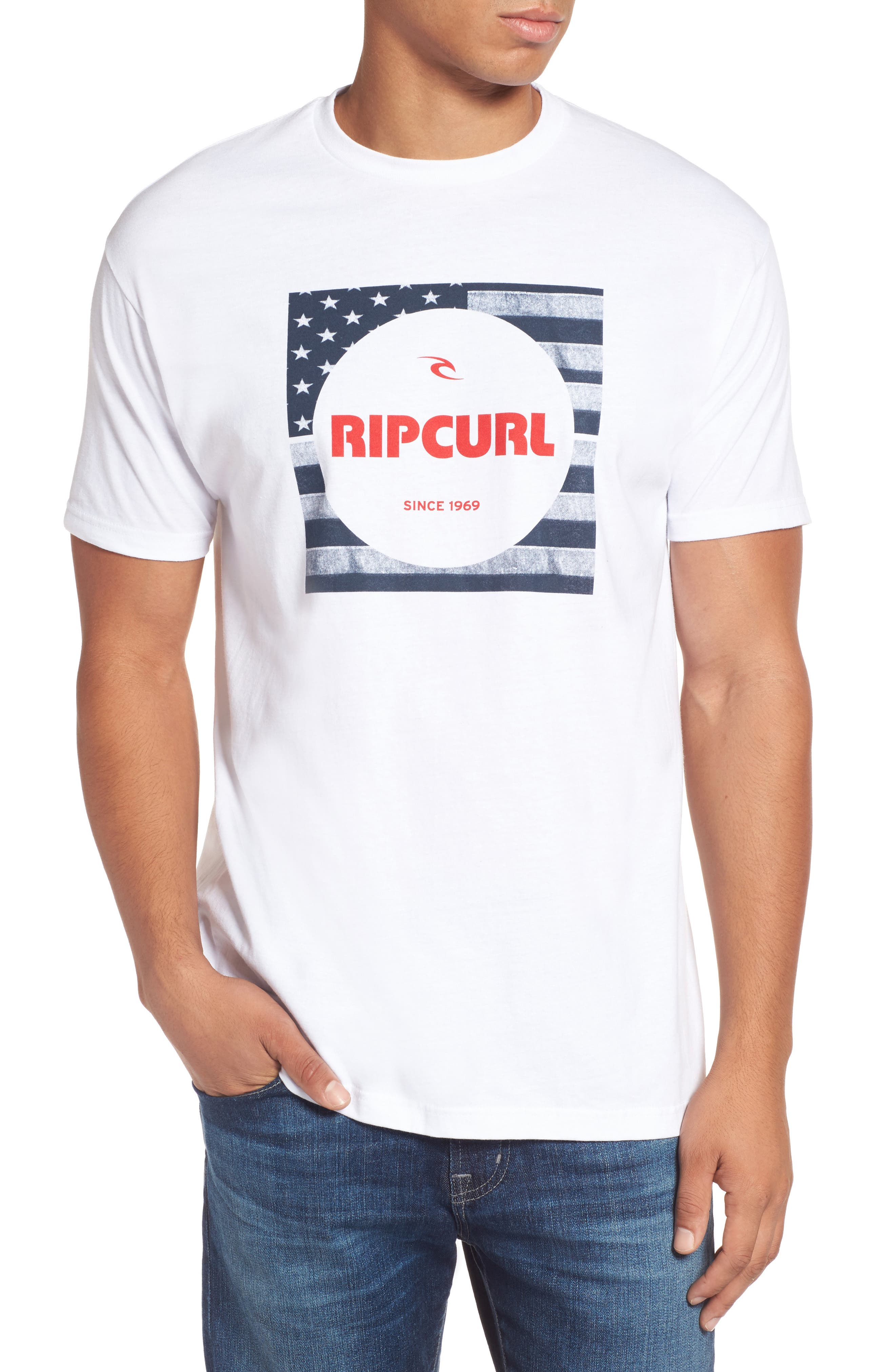 Alternate Image 1 Selected - Rip Curl Born in the USA Logo Graphic T-Shirt
