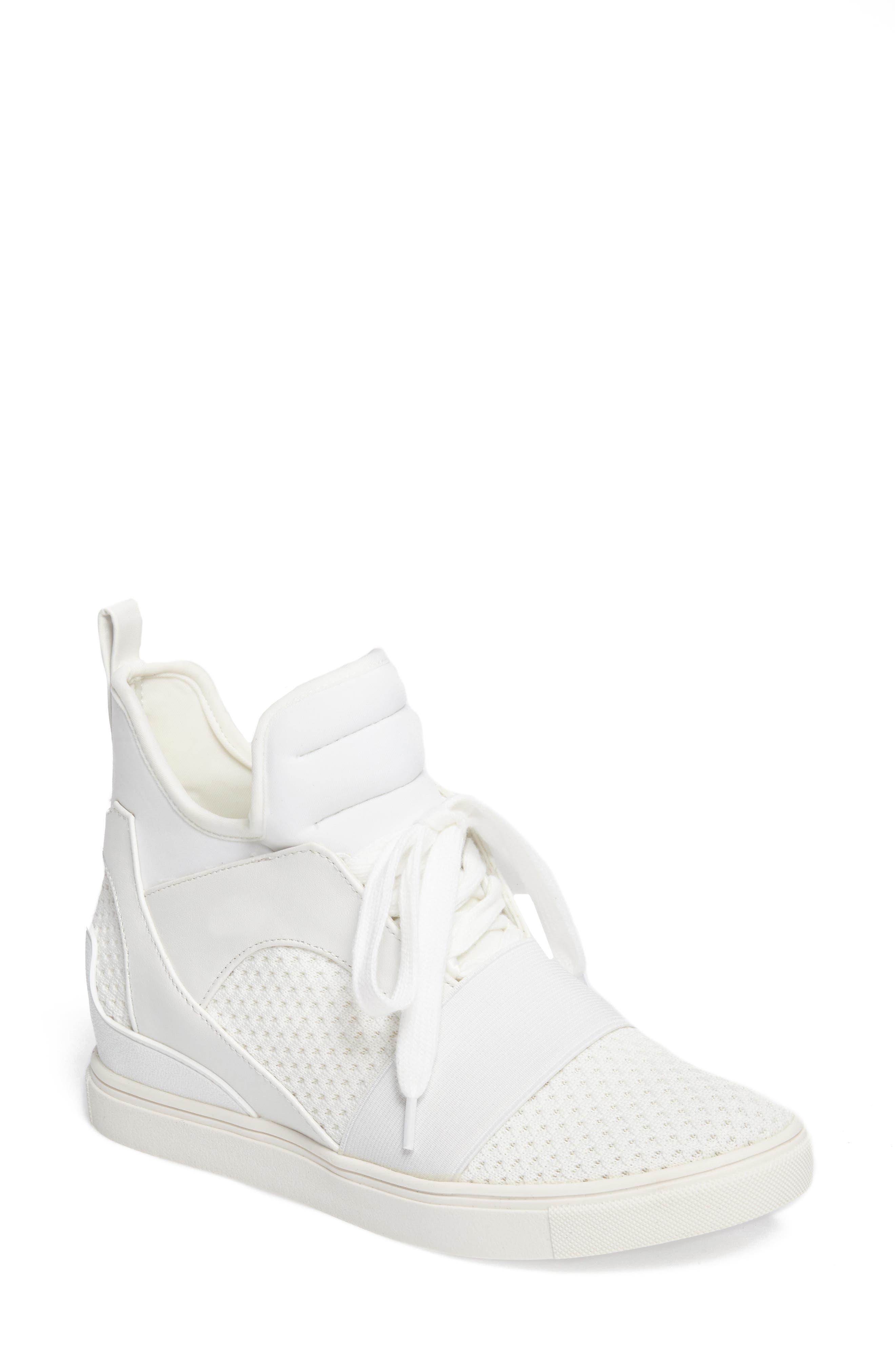 Lexie Wedge Sneaker,                             Main thumbnail 1, color,                             White