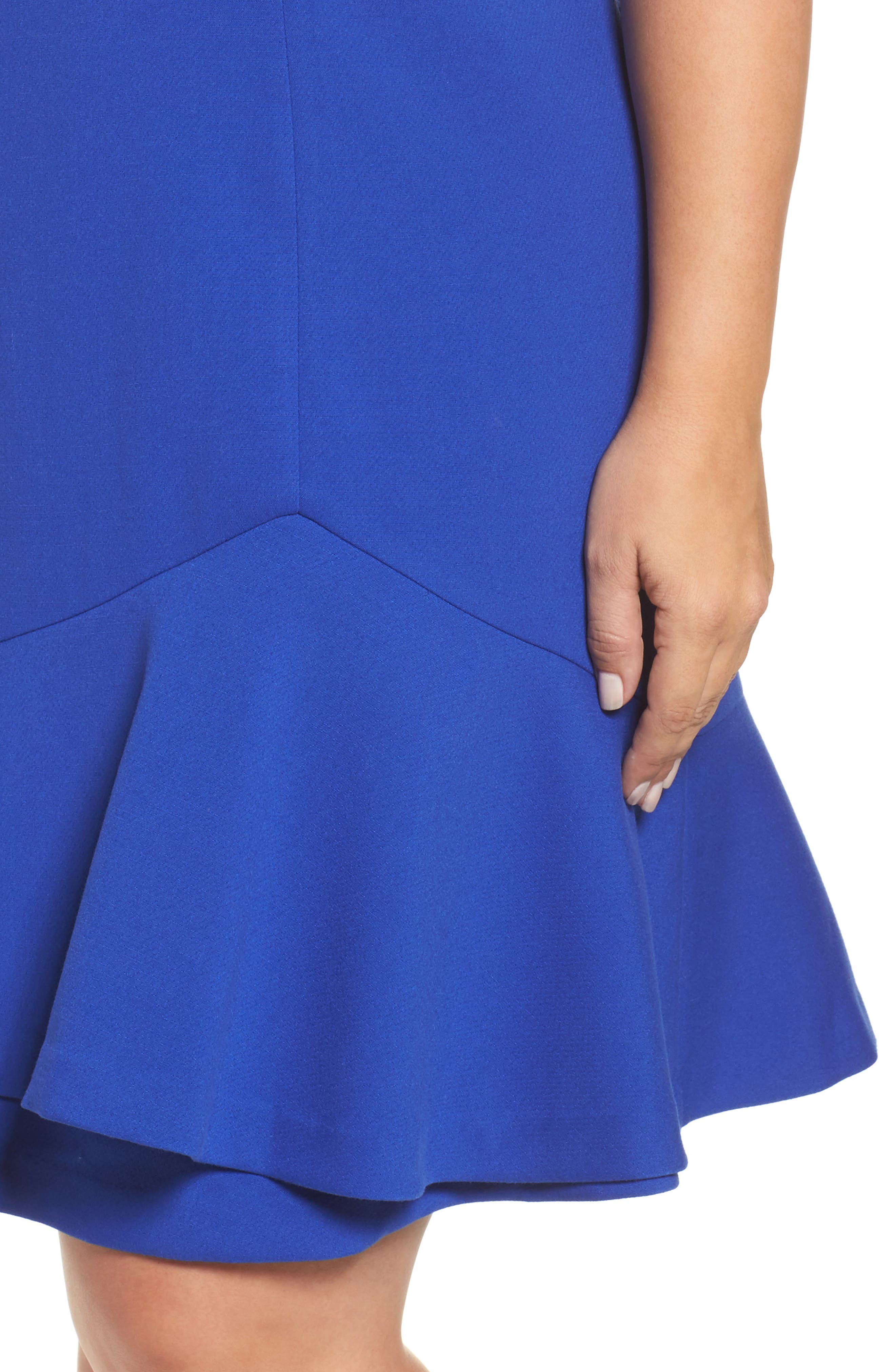 Drop Waist Dress,                             Alternate thumbnail 4, color,                             Cobalt