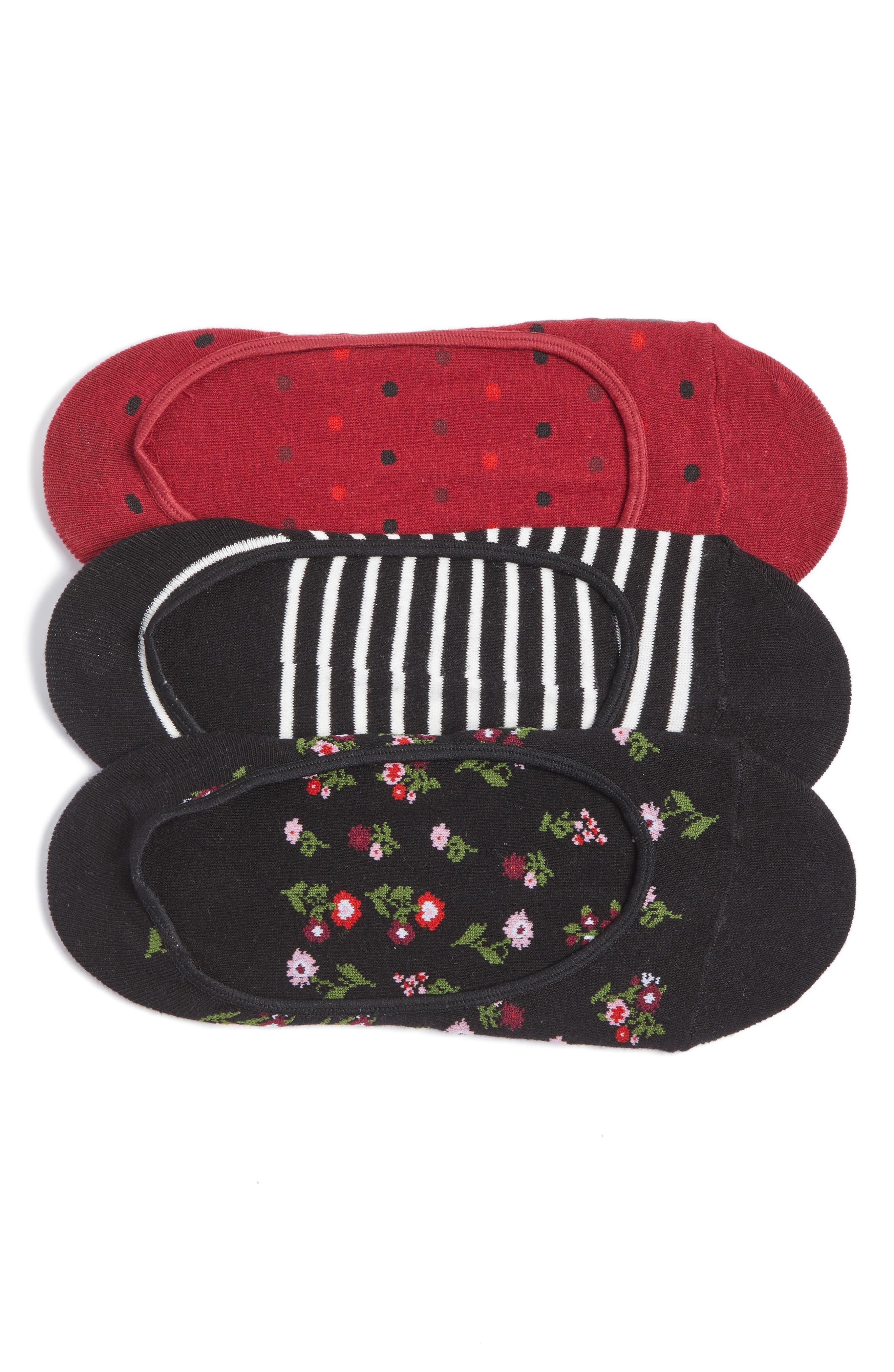 kate spade new york 3-pack liner socks