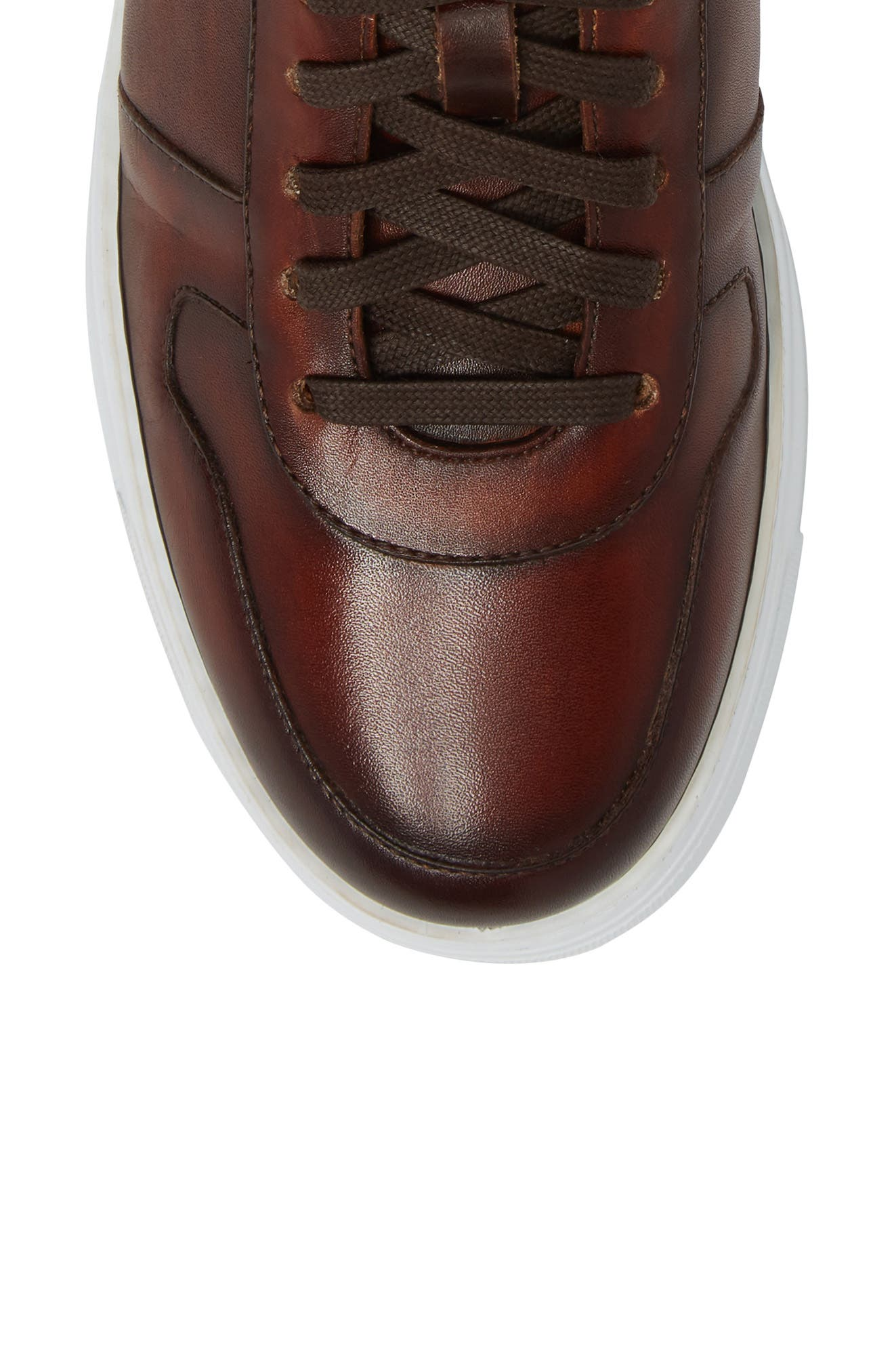 Endo Hi Sneaker,                             Alternate thumbnail 5, color,                             Cognac Leather