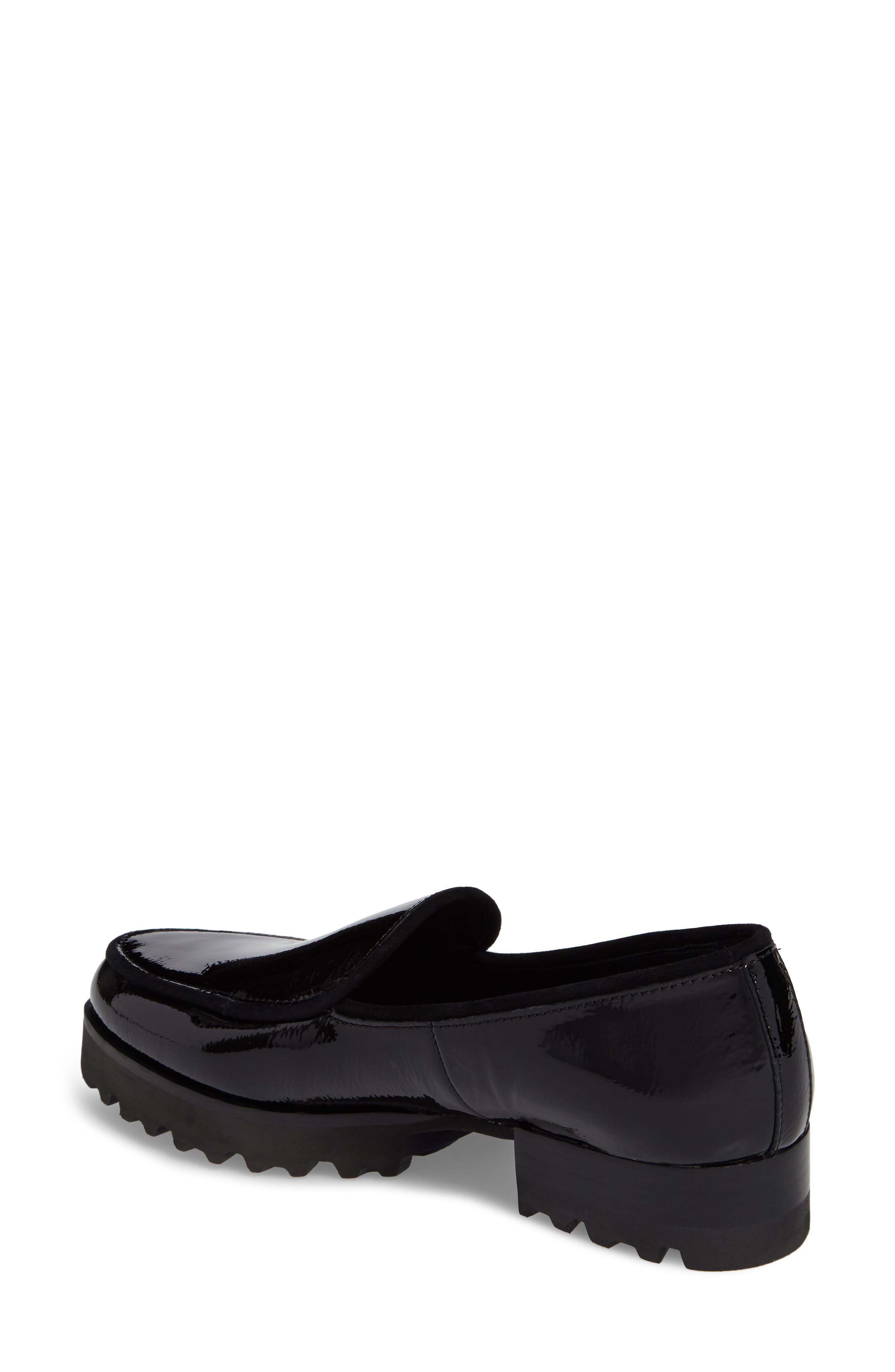 Elen Loafer,                             Alternate thumbnail 2, color,                             Black Leather
