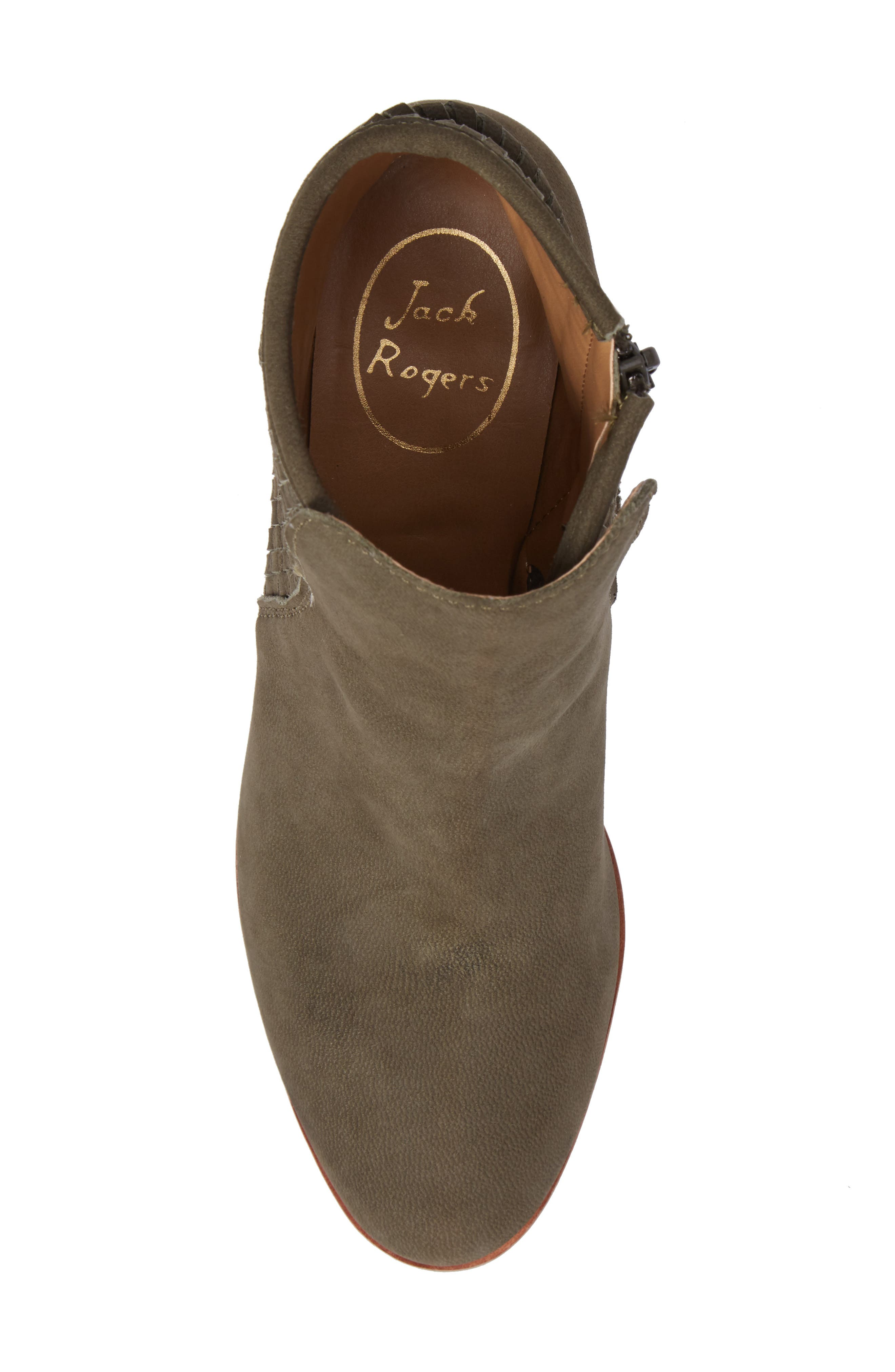 Deborah Bootie,                             Alternate thumbnail 5, color,                             Olive Leather