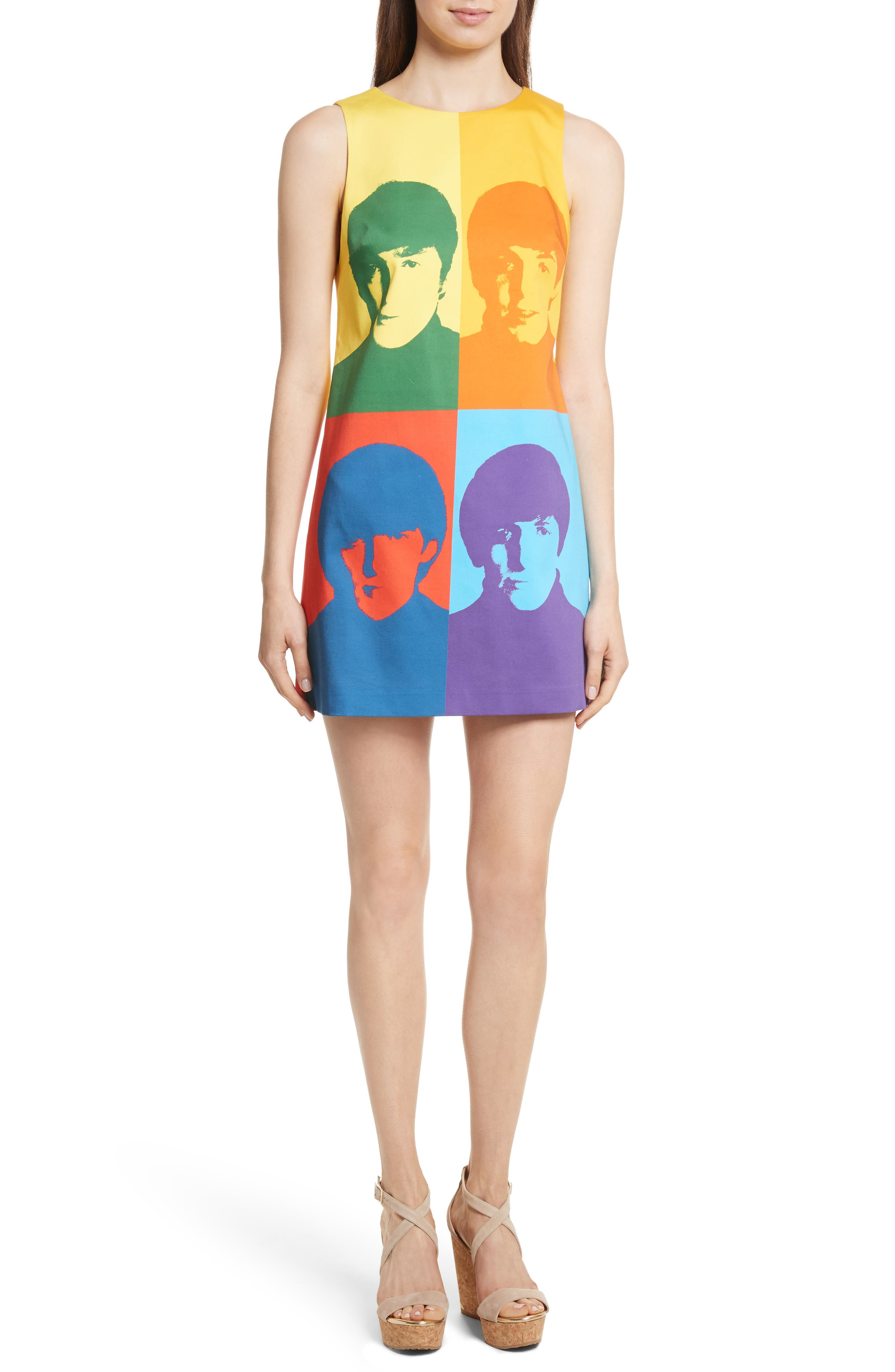 Main Image - Alice + Olivia AO x The Beatles Clyde A-Line Shift Dress