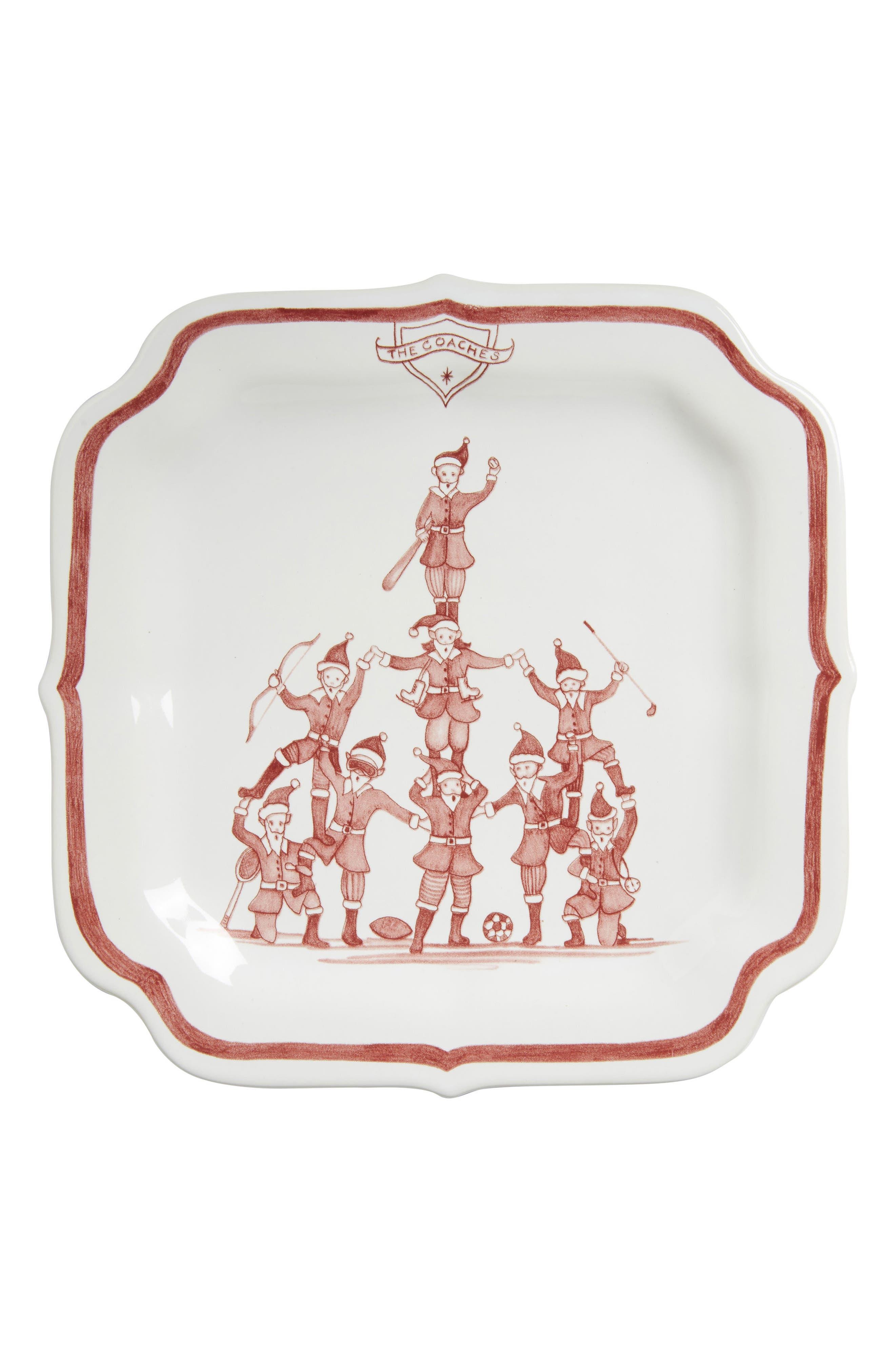 Juliska Reindeer Games Coaches Ceramic Plate