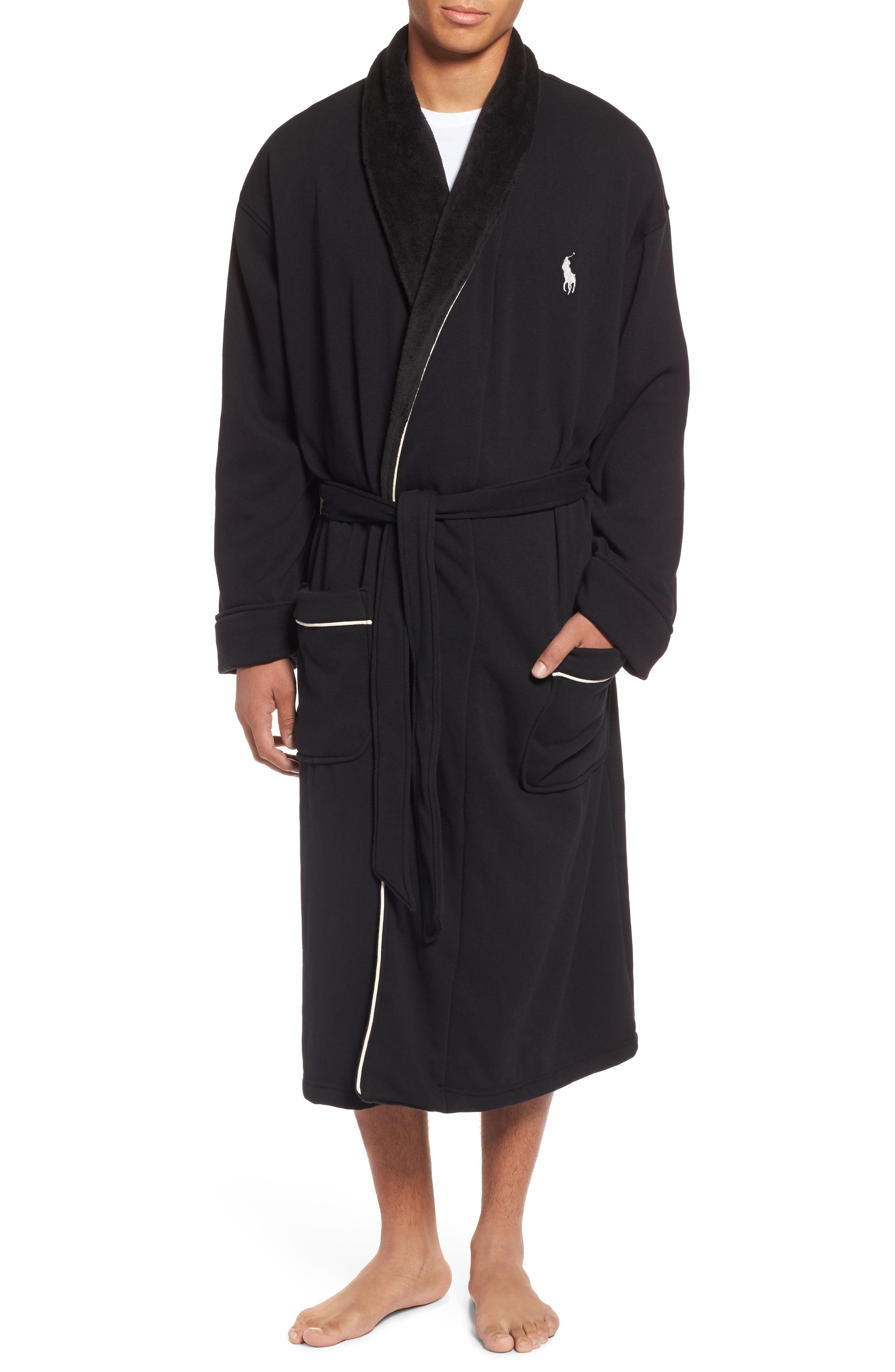 Polo Ralph Lauren Plush Piped Robe