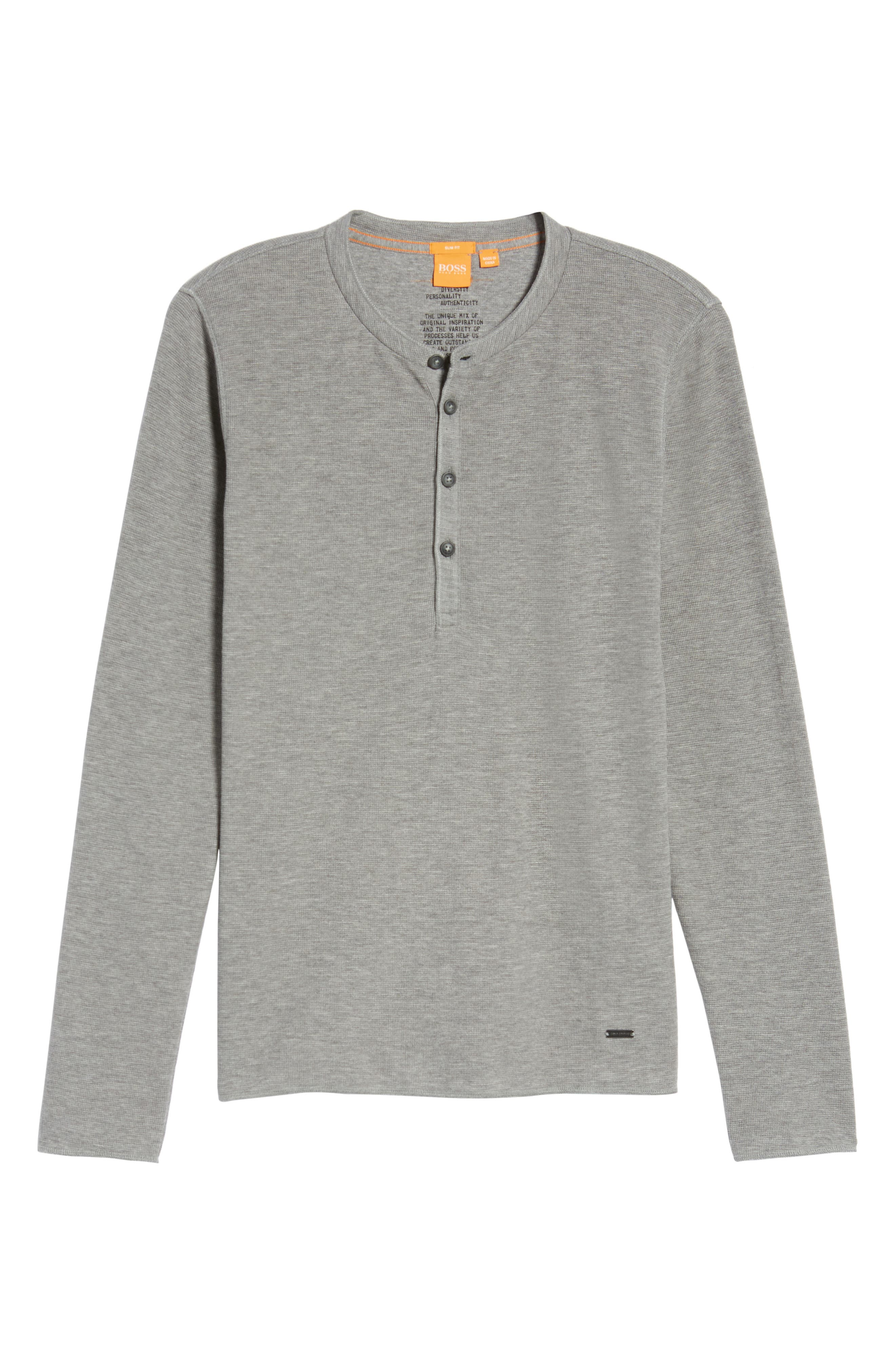 Topsider Thermal Henley,                             Alternate thumbnail 7, color,                             Light Pastel/ Grey