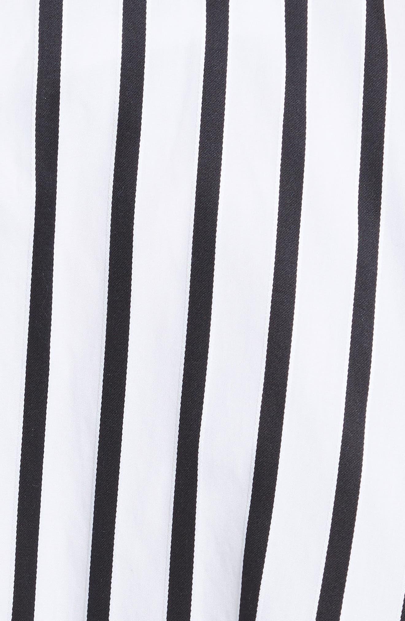 Alternate Image 5  - Adam Lippes Stripe Cotton Asymmetrical Skirt