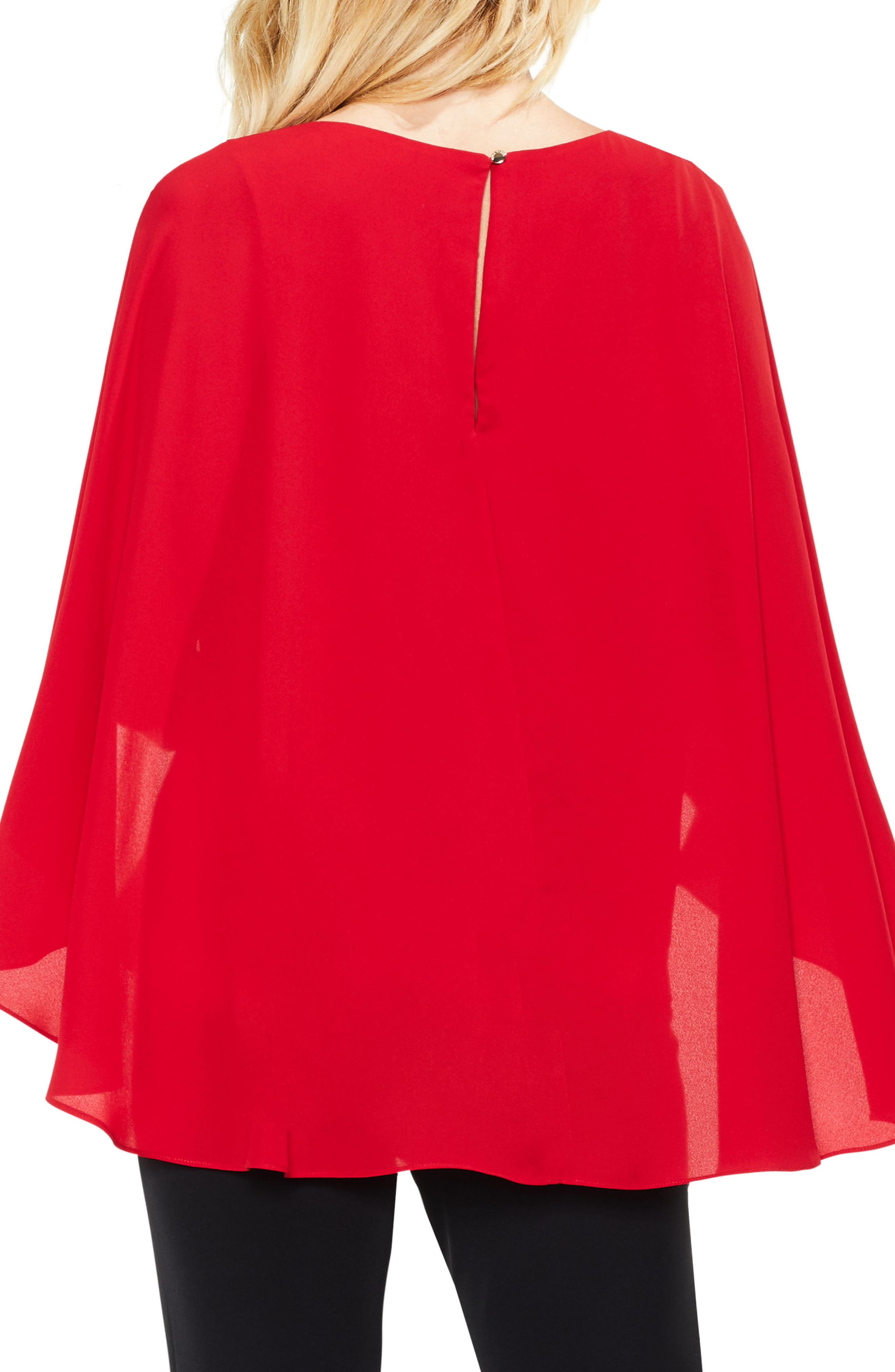 Alternate Image 2  - Vince Camuto Cape Overlay Blouse