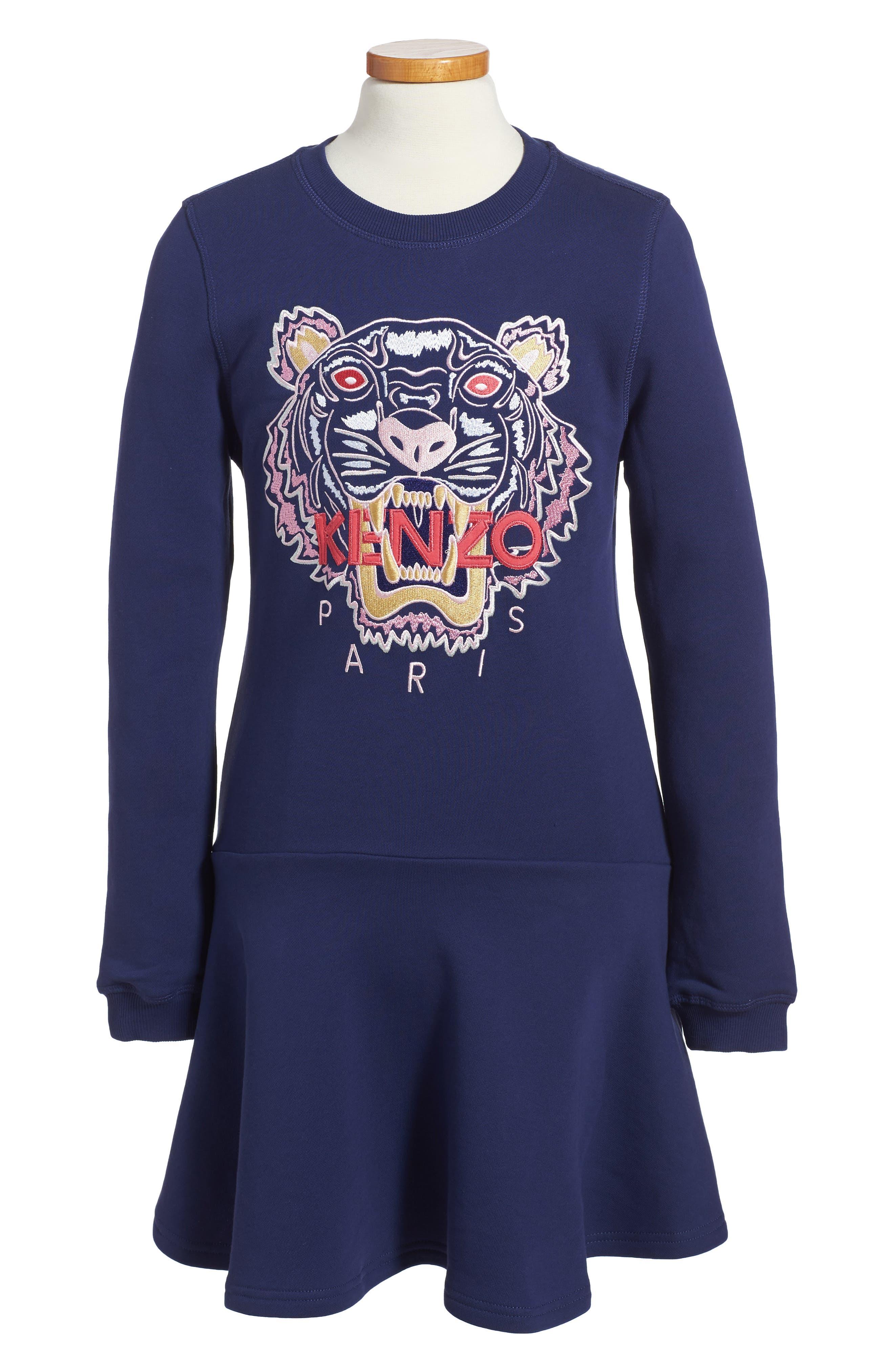 KENZO Tiger Sweatshirt Dress (Toddler Girls, Little Girls & Big Girls)
