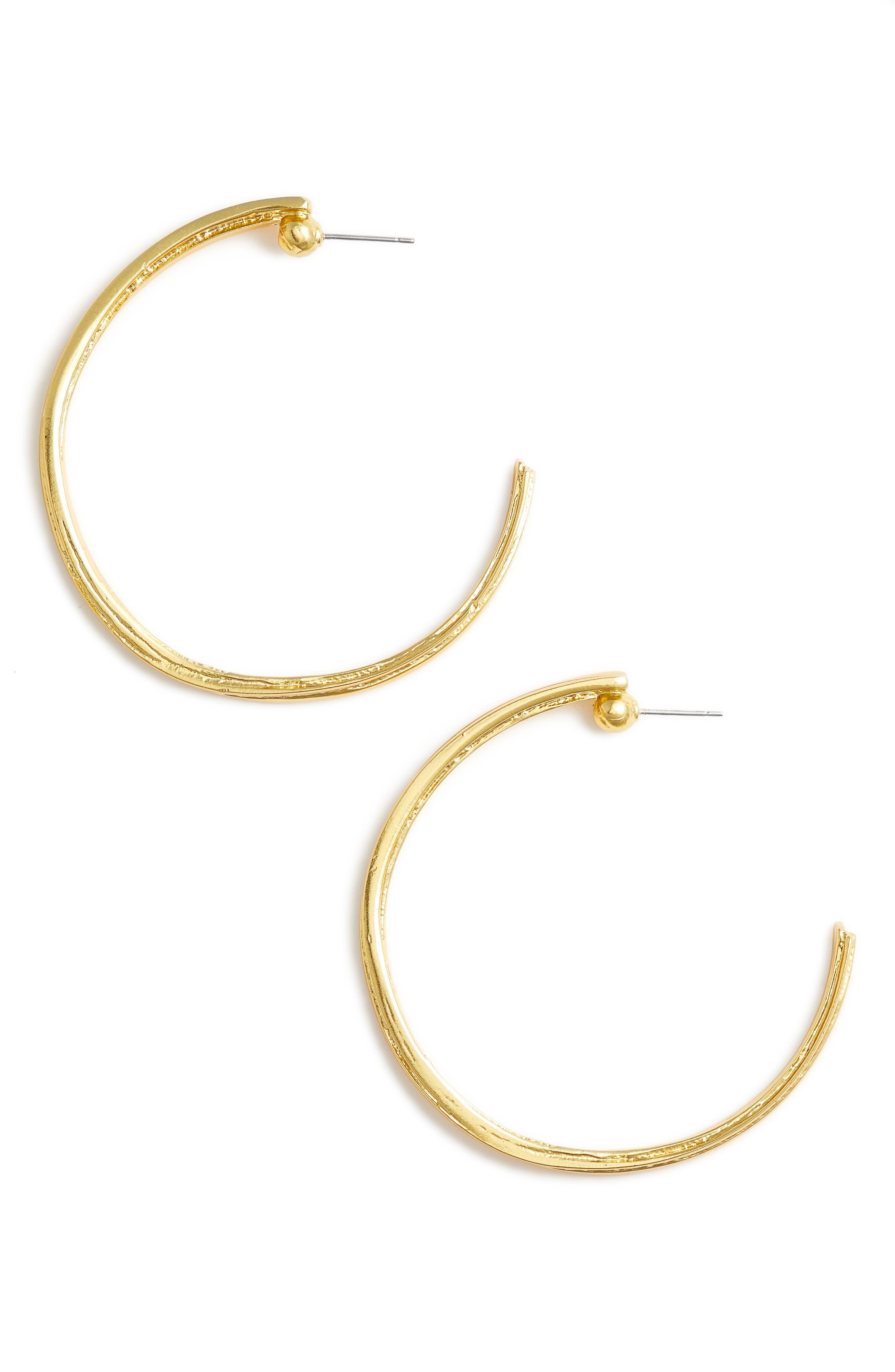 Angelique Hoop Earrings,                         Main,                         color, Gold