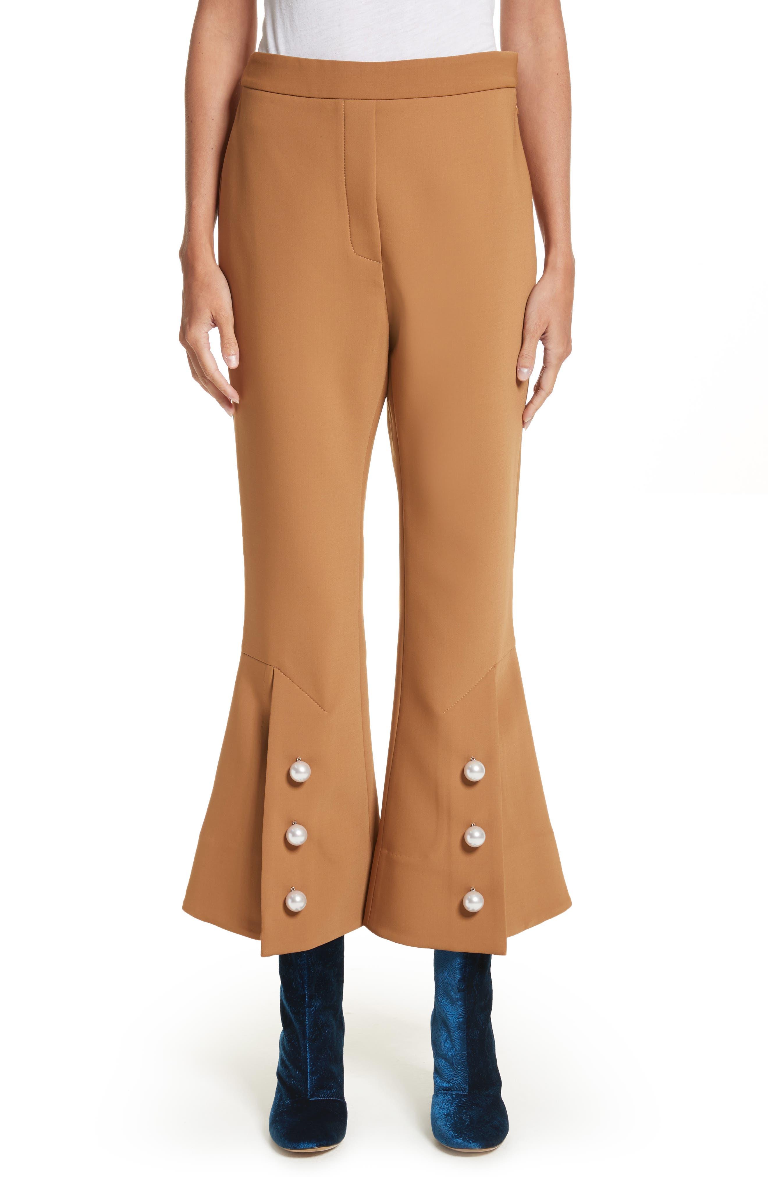 Fourth Element Crop Flare Pants,                         Main,                         color, Camel