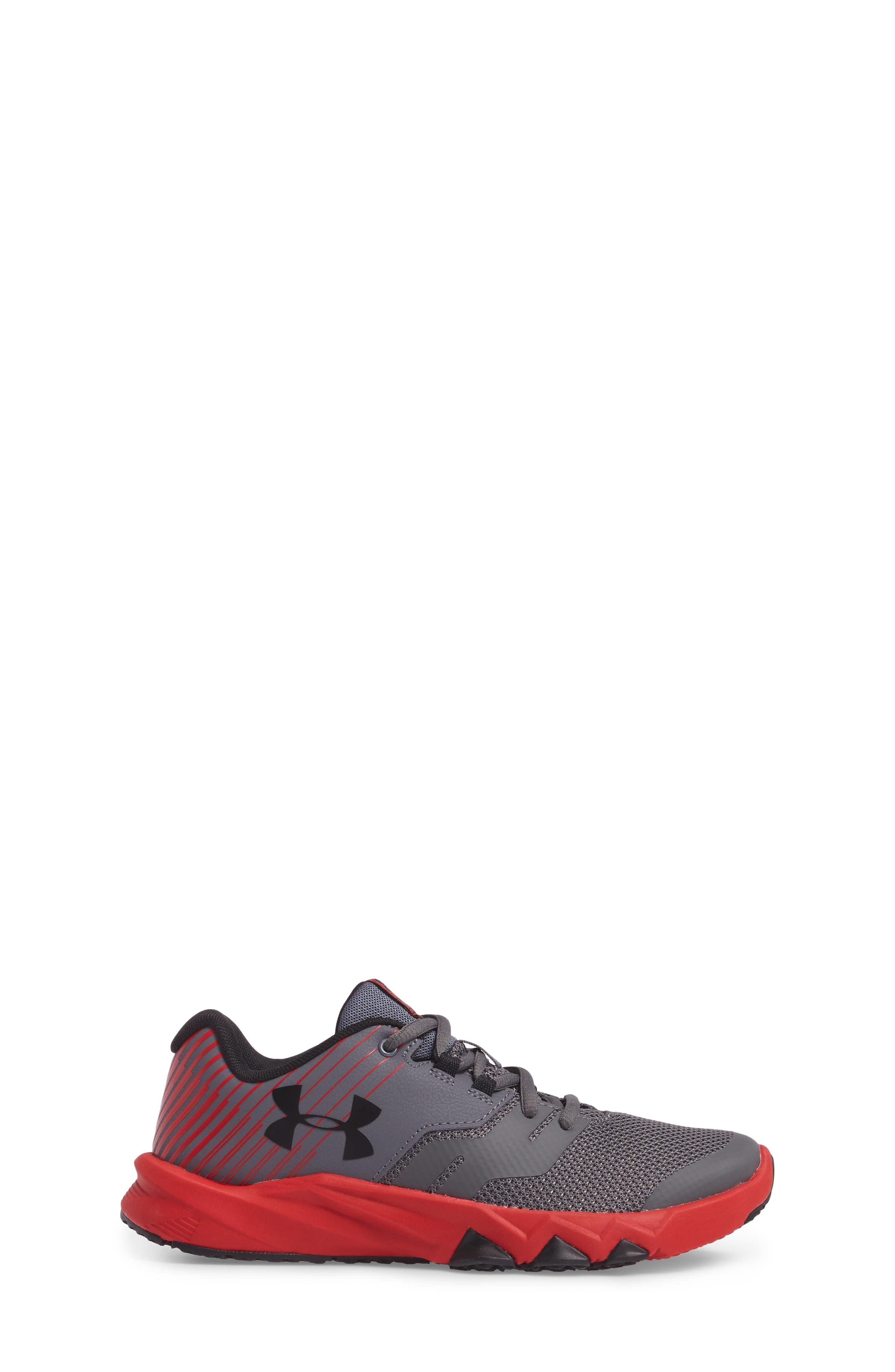 Grade School Primed 2 Running Shoe,                             Alternate thumbnail 3, color,                             Graphite/ Red/ Black