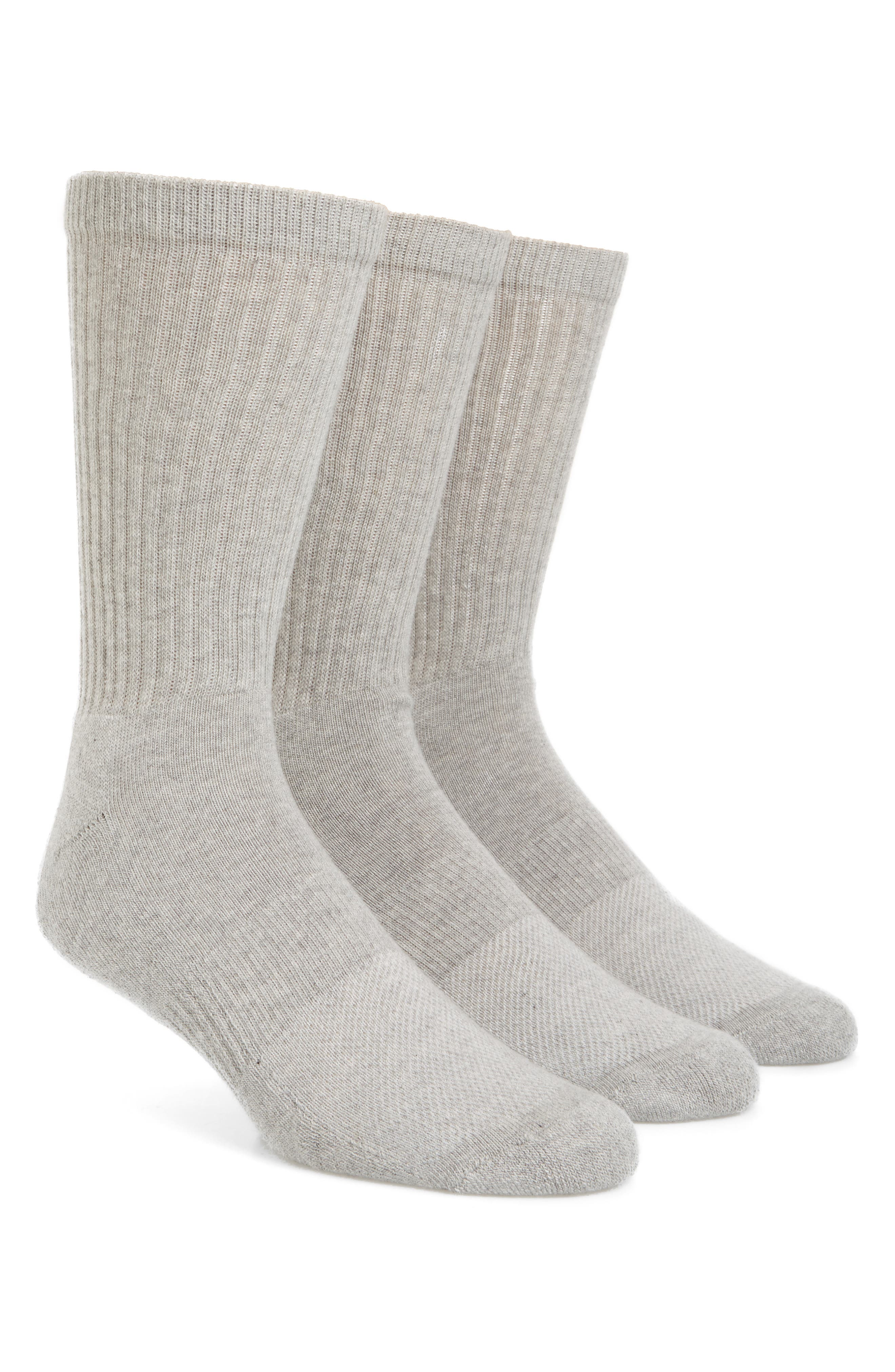 Alternate Image 1 Selected - Nordstrom Men's Shop 3-Pack Crew Cut Athletic Socks (King Size)