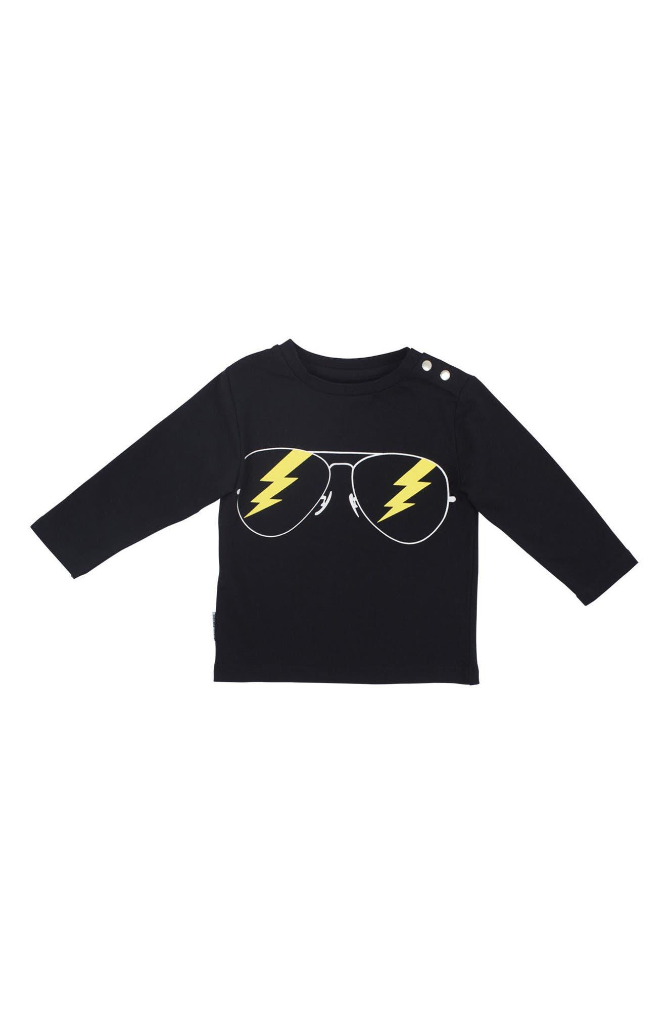 Alternate Image 2  - Tiny Tribe Rockstar T-Shirt & Jogger Pants Set (Baby)