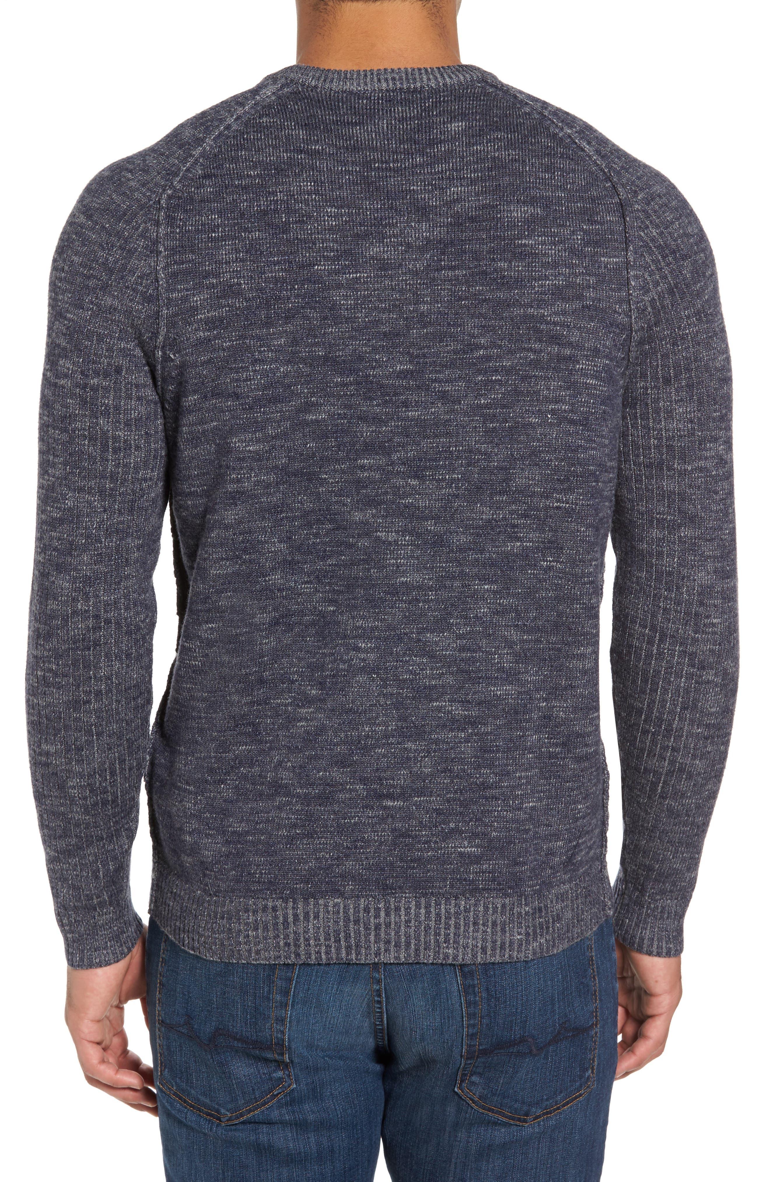 Gran Rey Flip Reversible Cotton & Wool Sweater,                             Alternate thumbnail 2, color,                             Ocean Deep Heather