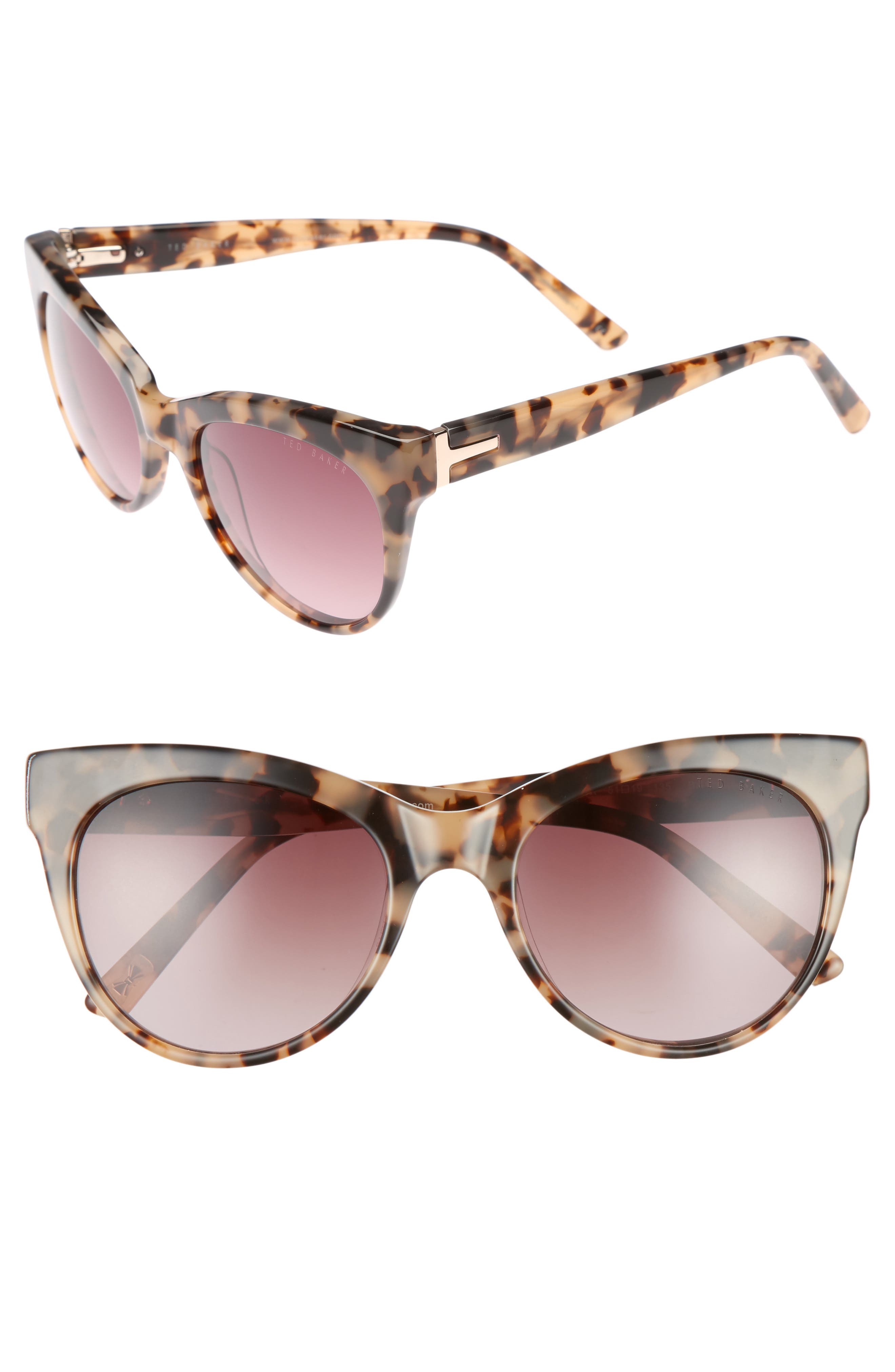 Alternate Image 1 Selected - Ted Baker London 51mm Cat Eye Sunglasses